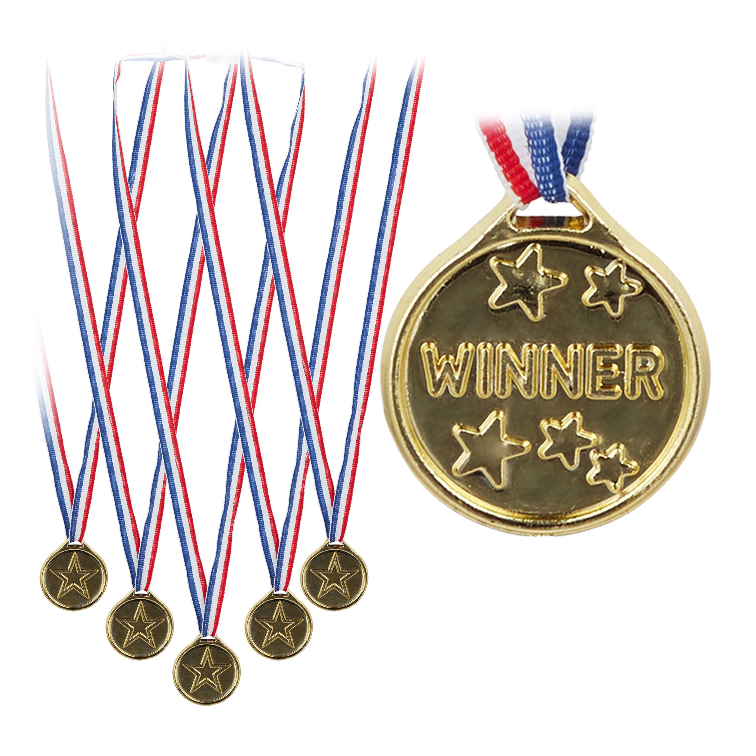 Siegermedaille Kindermedaille Deko Plastik Medaille 192 x Goldmedaille Kinder
