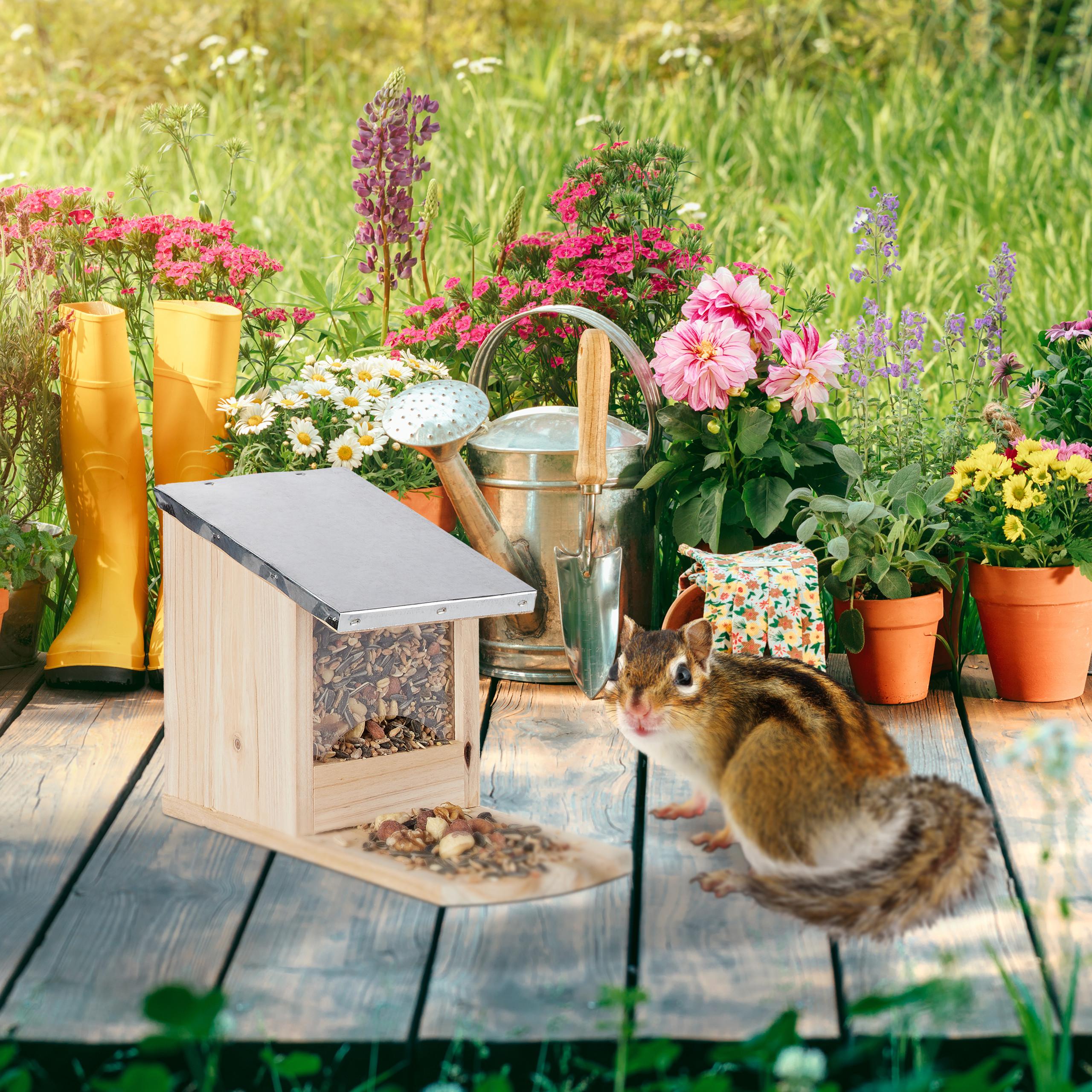 eekhoorn-voederhuisje-metalen-dak-hout-voederhuis-voederkast miniatuur 4