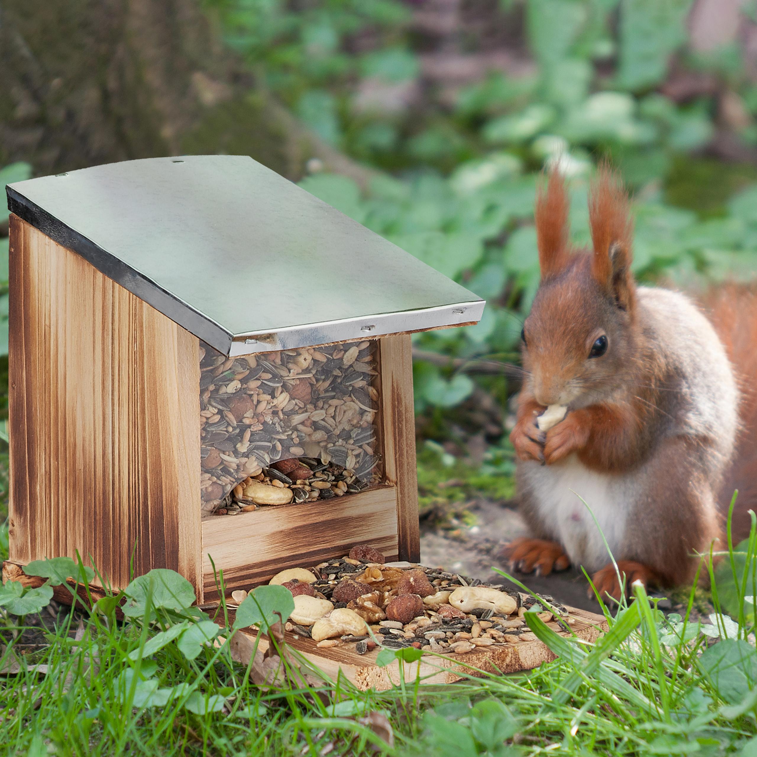 eekhoorn-voederhuisje-metalen-dak-hout-voederhuis-voederkast miniatuur 6