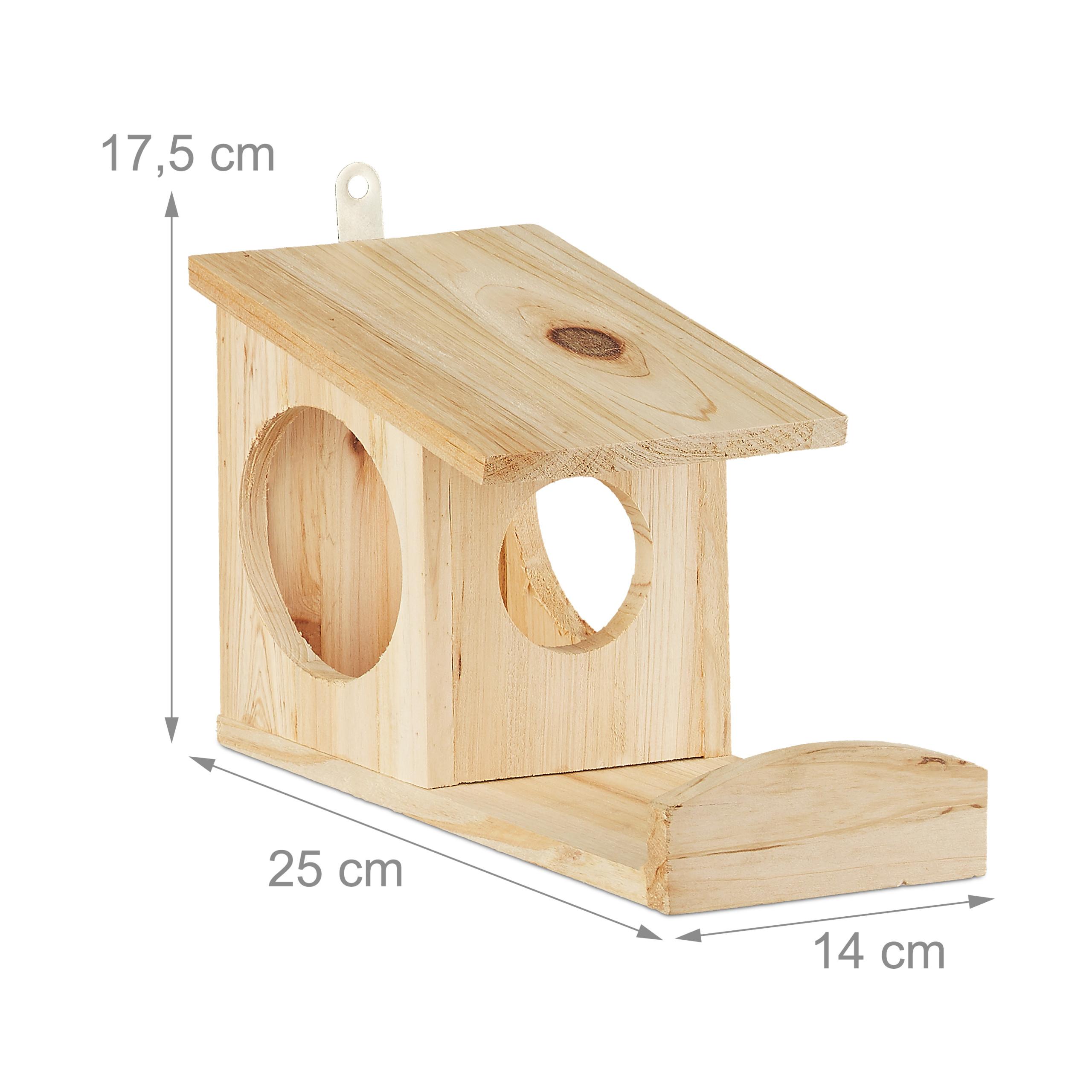 miniatuur 11 - eekhoorn voederhuisje - voederhuis - voederkast - voederbak - hout - voederplek