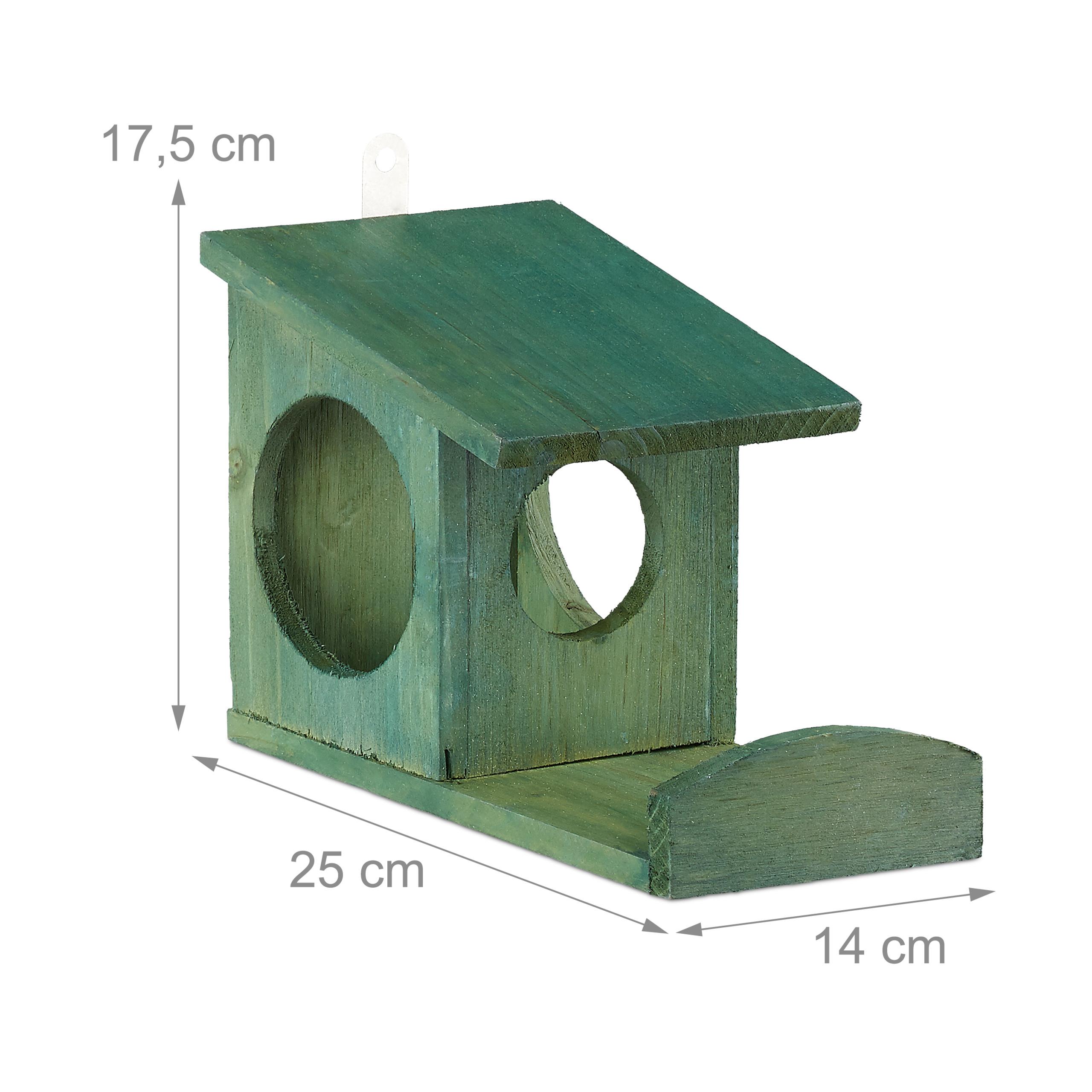 miniatuur 18 - eekhoorn voederhuisje - voederhuis - voederkast - voederbak - hout - voederplek
