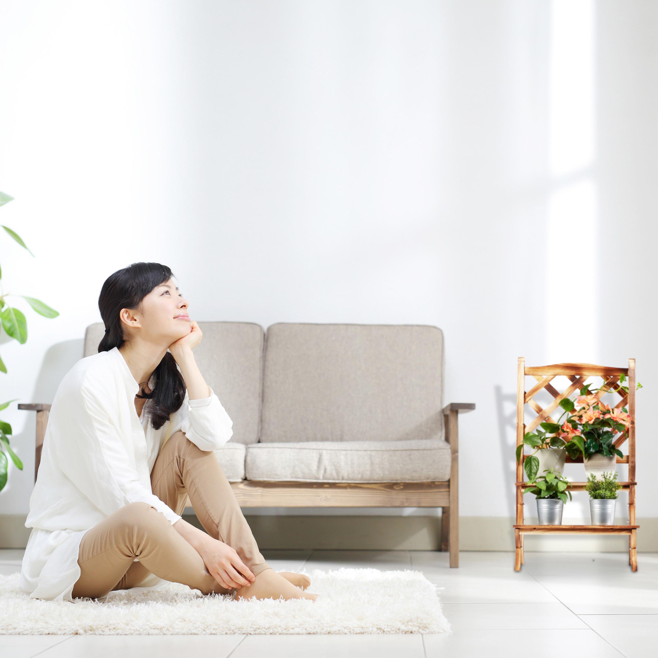 plantenrek-hout-plantentrap-plantenklimrek-bloemenrek-bloementrap miniatuur 4