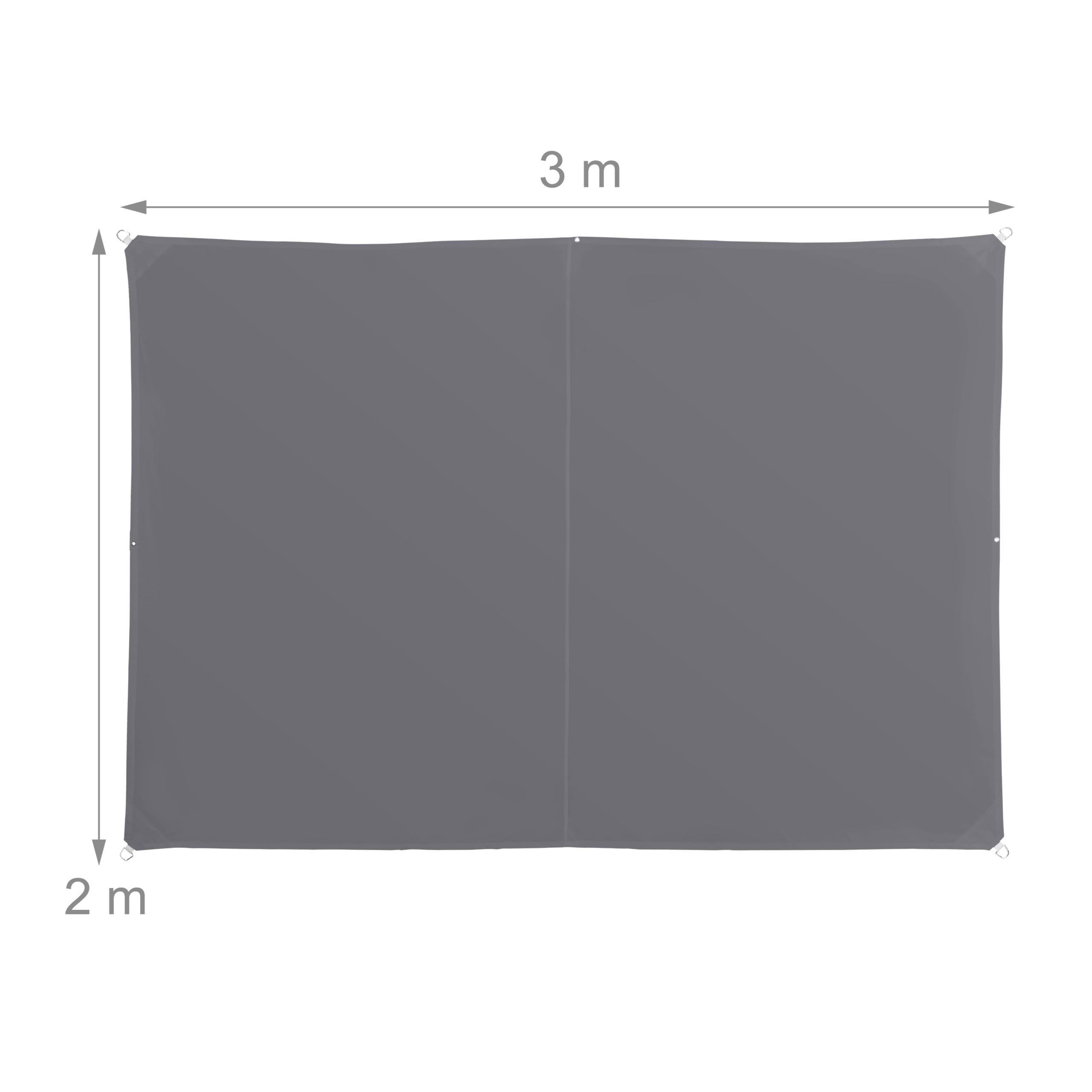 miniatura 11 - Tenda a vela rettangolare parasole ombreggiante idrorepellente anti UV grigia