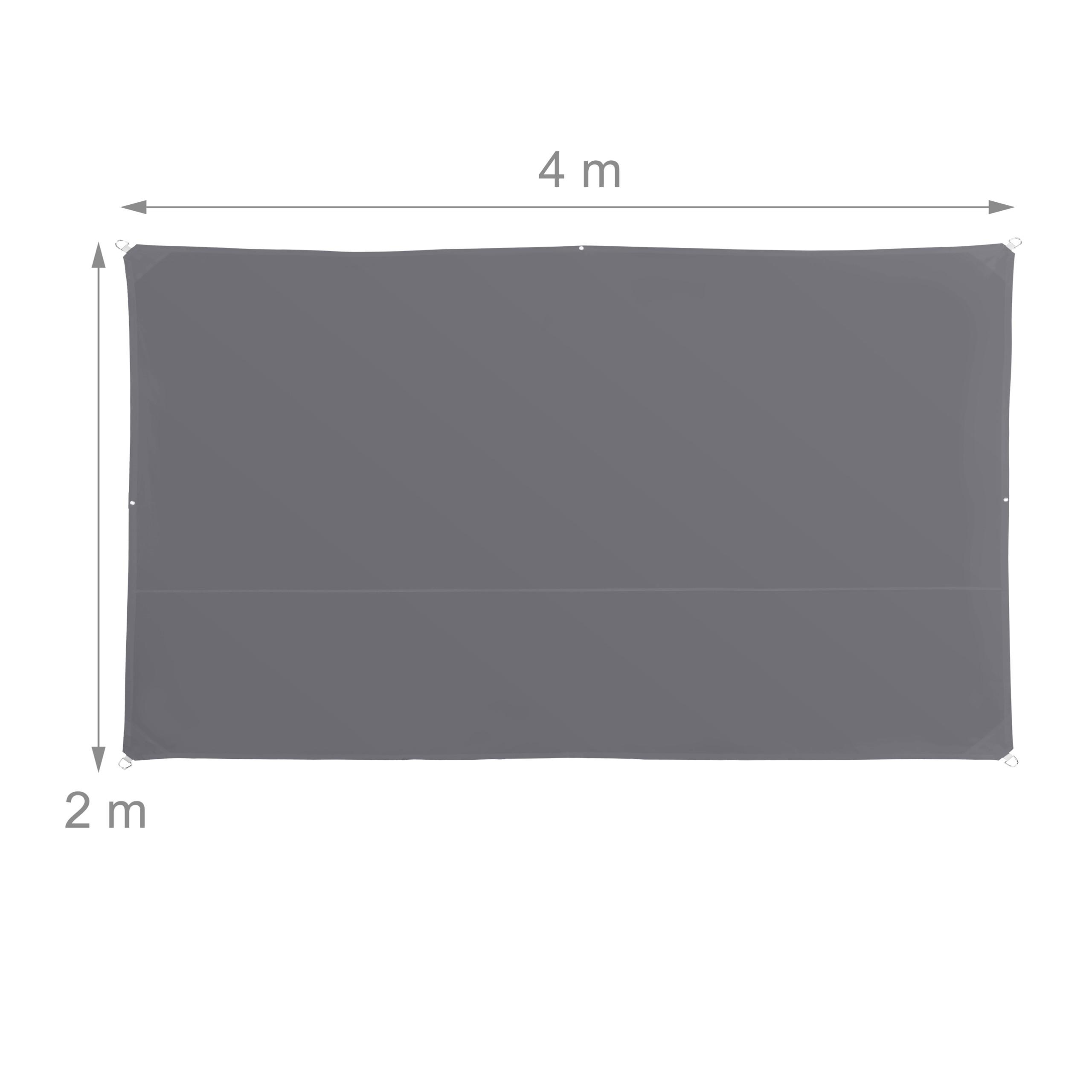 miniatura 20 - Tenda a vela rettangolare parasole ombreggiante idrorepellente anti UV grigia