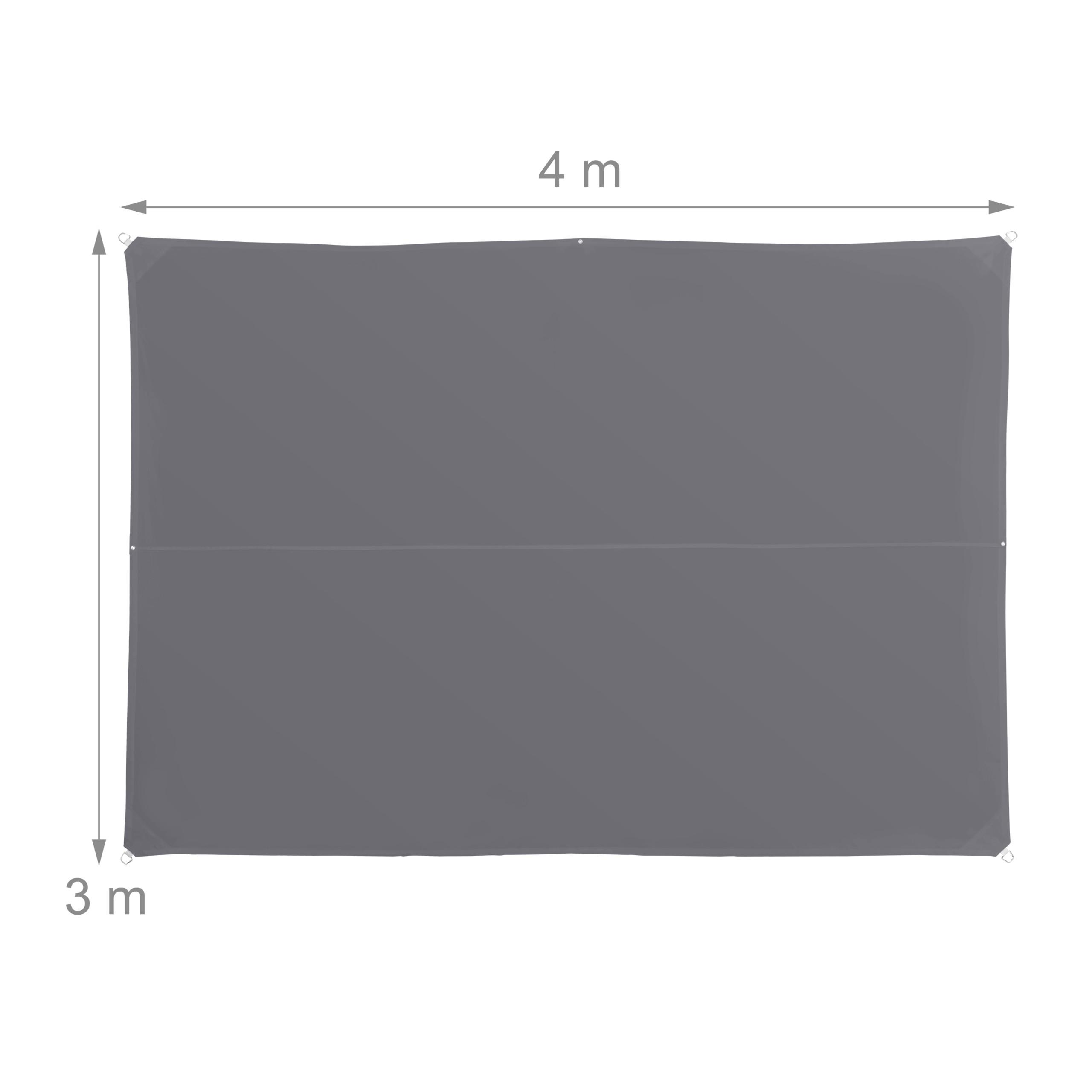 miniatura 29 - Tenda a vela rettangolare parasole ombreggiante idrorepellente anti UV grigia
