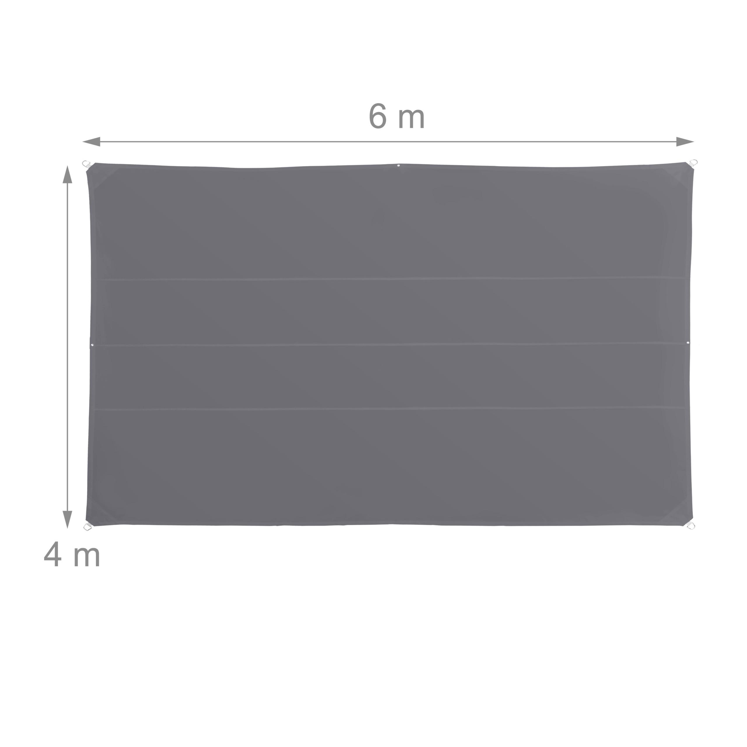 miniatura 38 - Tenda a vela rettangolare parasole ombreggiante idrorepellente anti UV grigia