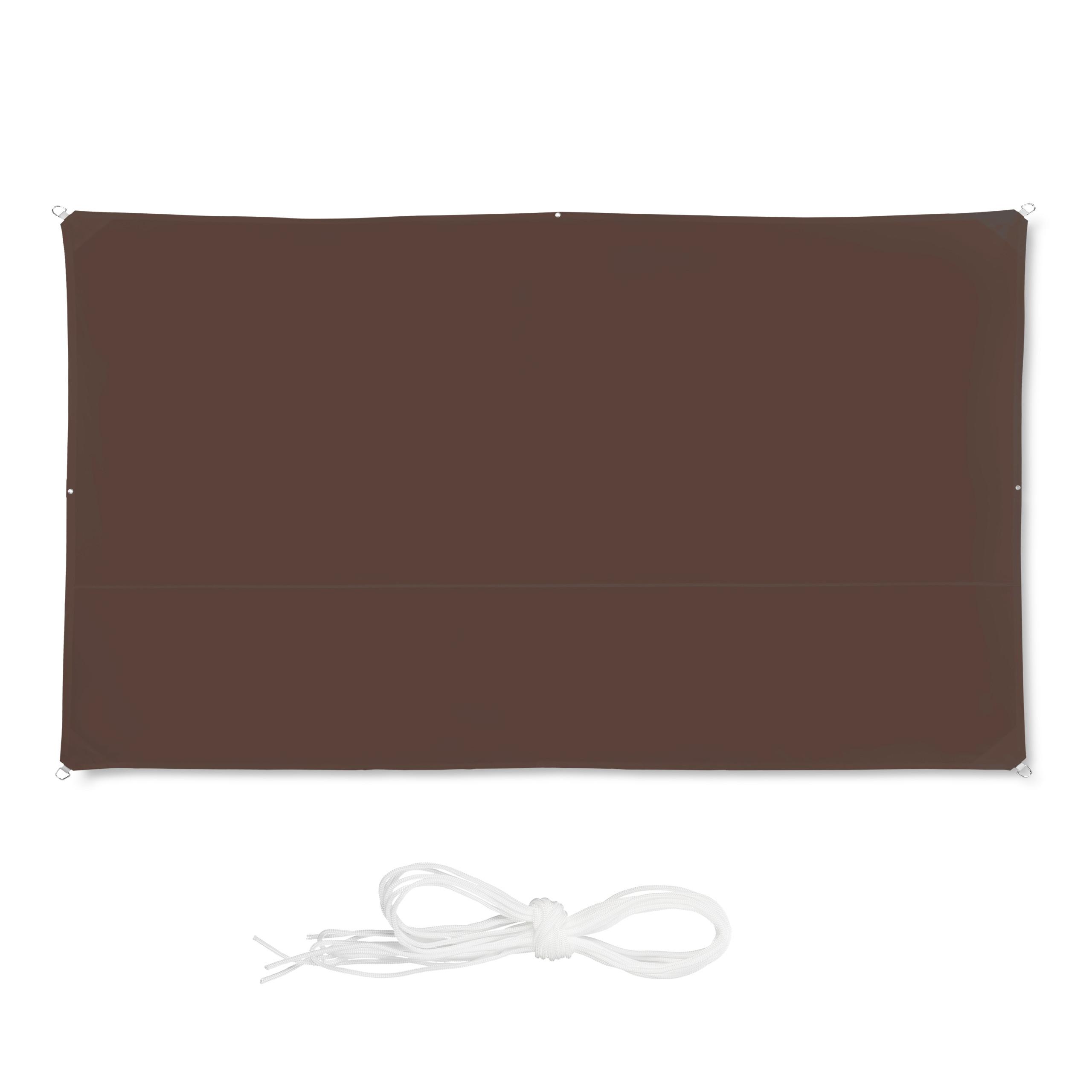 voile d ombrage rectangle ombre protection soleil balcon. Black Bedroom Furniture Sets. Home Design Ideas