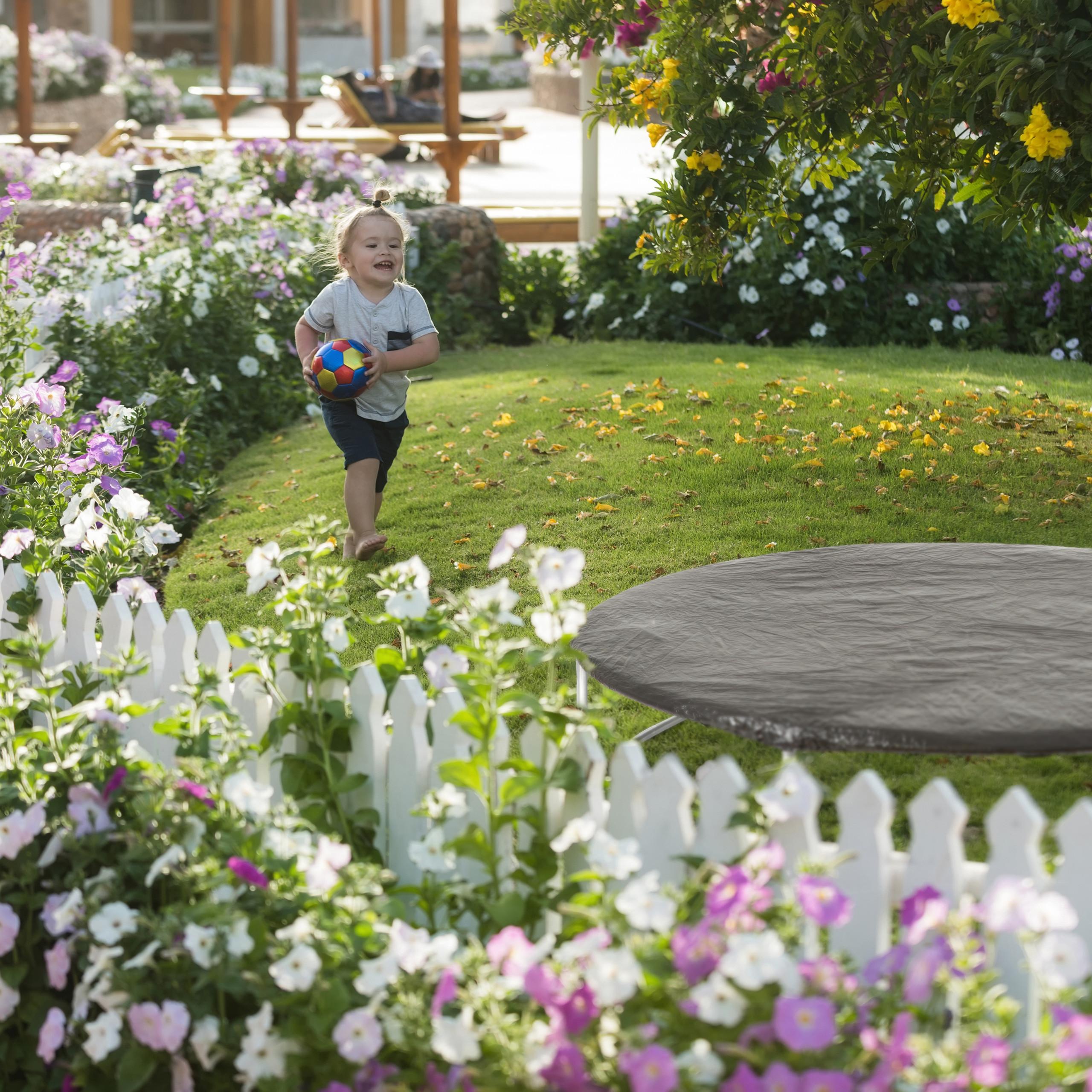 Housse-de-Protection-pour-Trampoline-Bache-pluie-vent-jardin-intemperies miniature 4