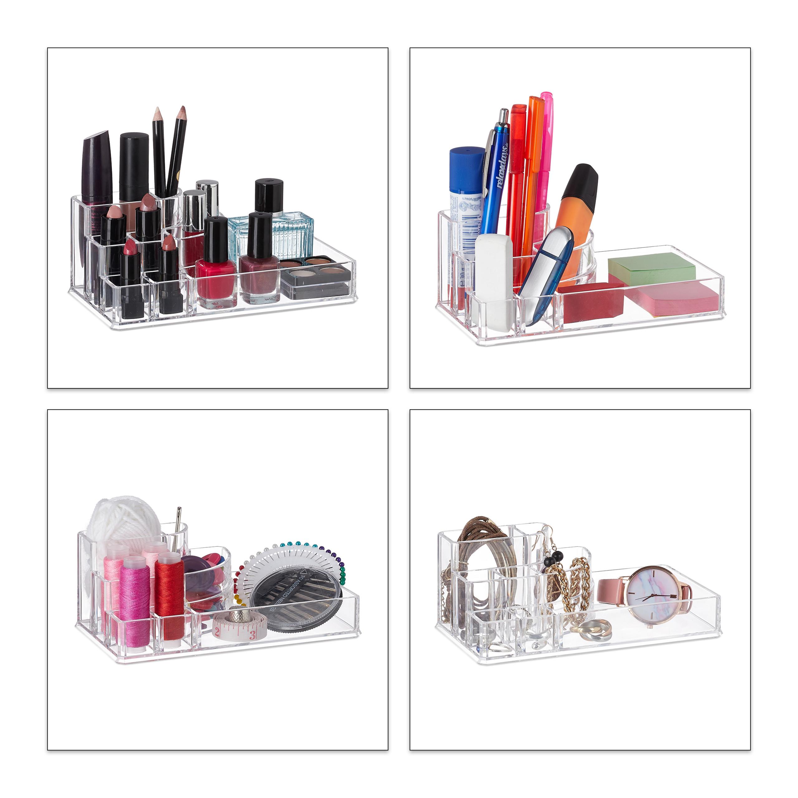 make-up-organizer-acryl-8-vakken-lippenstifthouder-opbergsysteem miniatuur 5