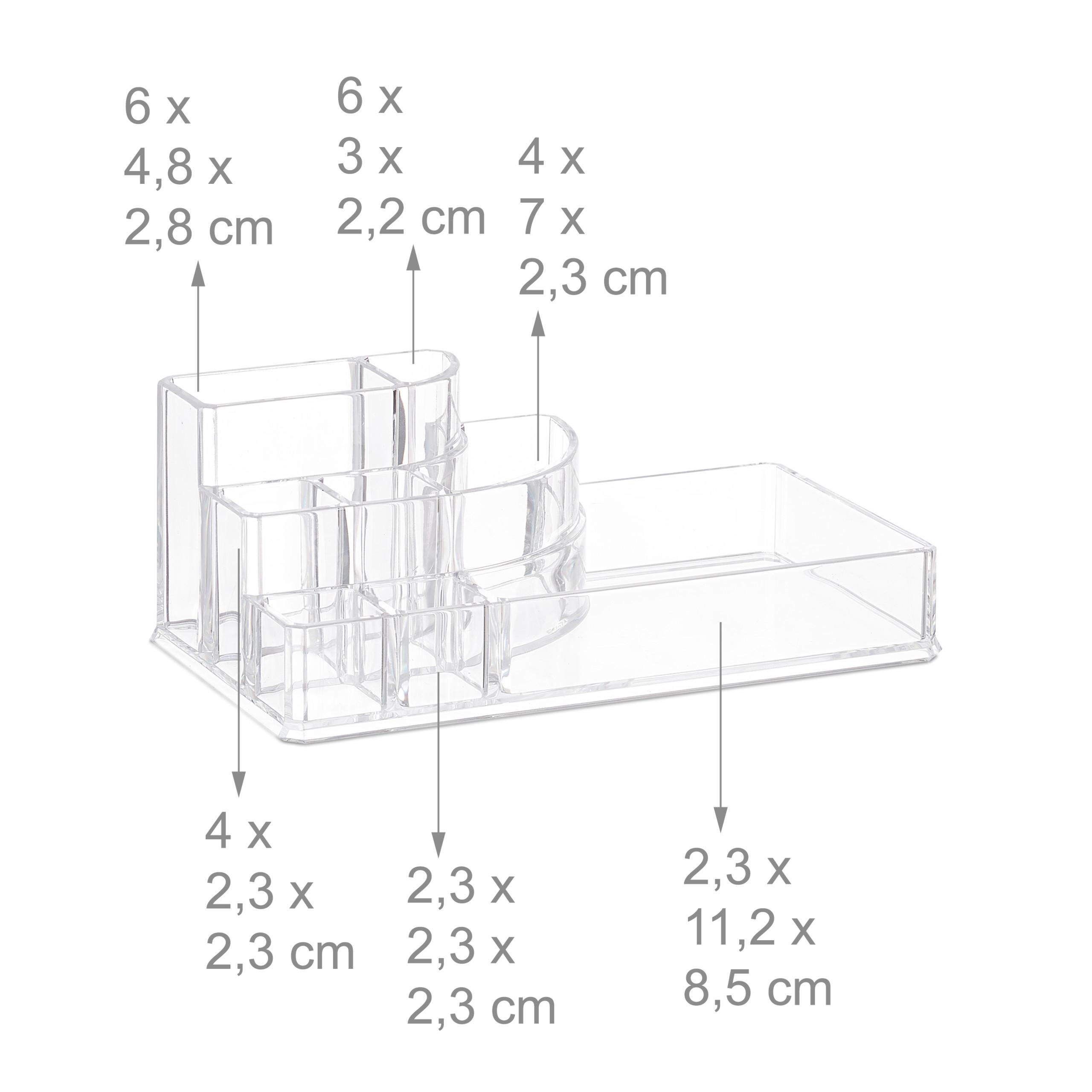 make-up-organizer-acryl-8-vakken-lippenstifthouder-opbergsysteem miniatuur 7