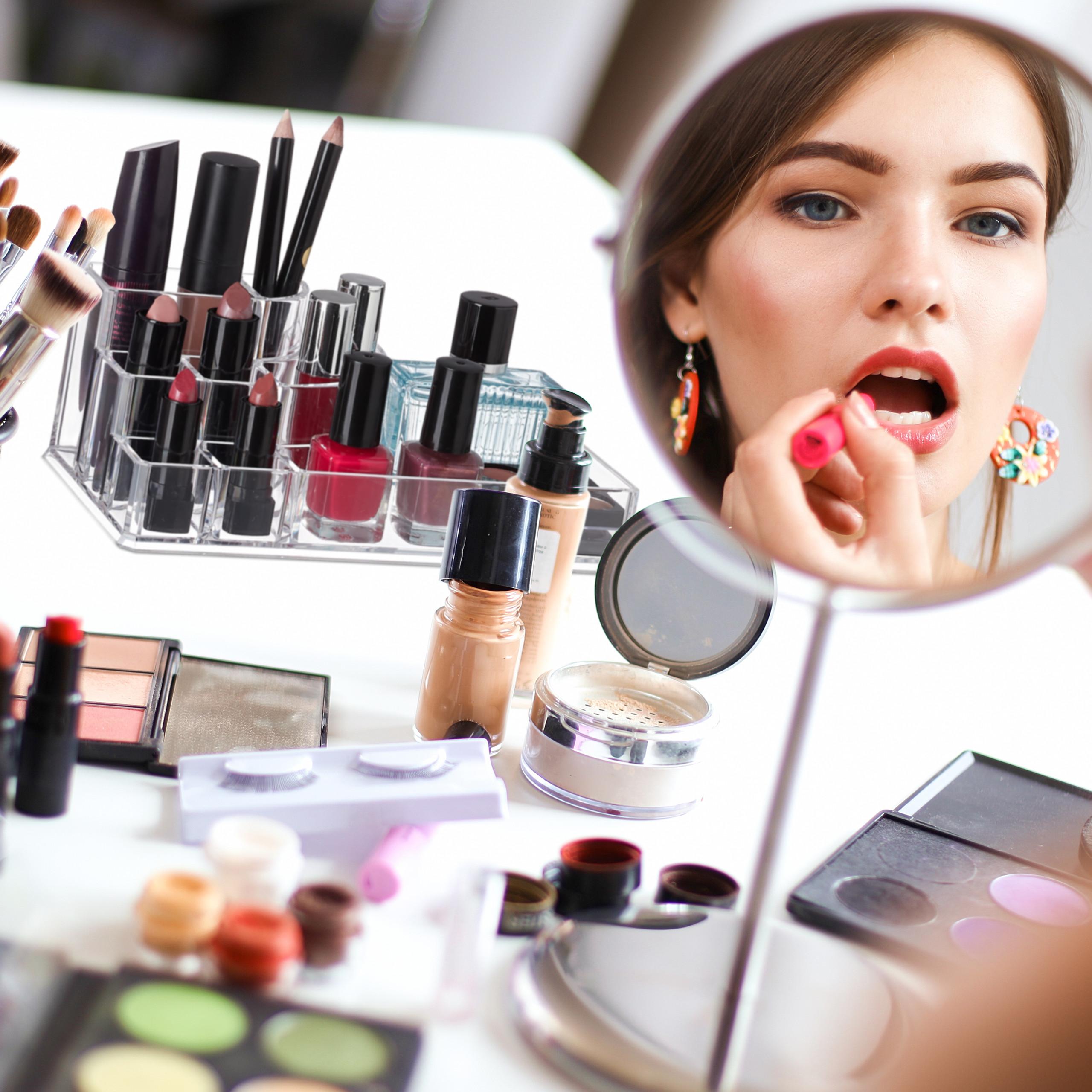 make-up-organizer-acryl-8-vakken-lippenstifthouder-opbergsysteem miniatuur 8