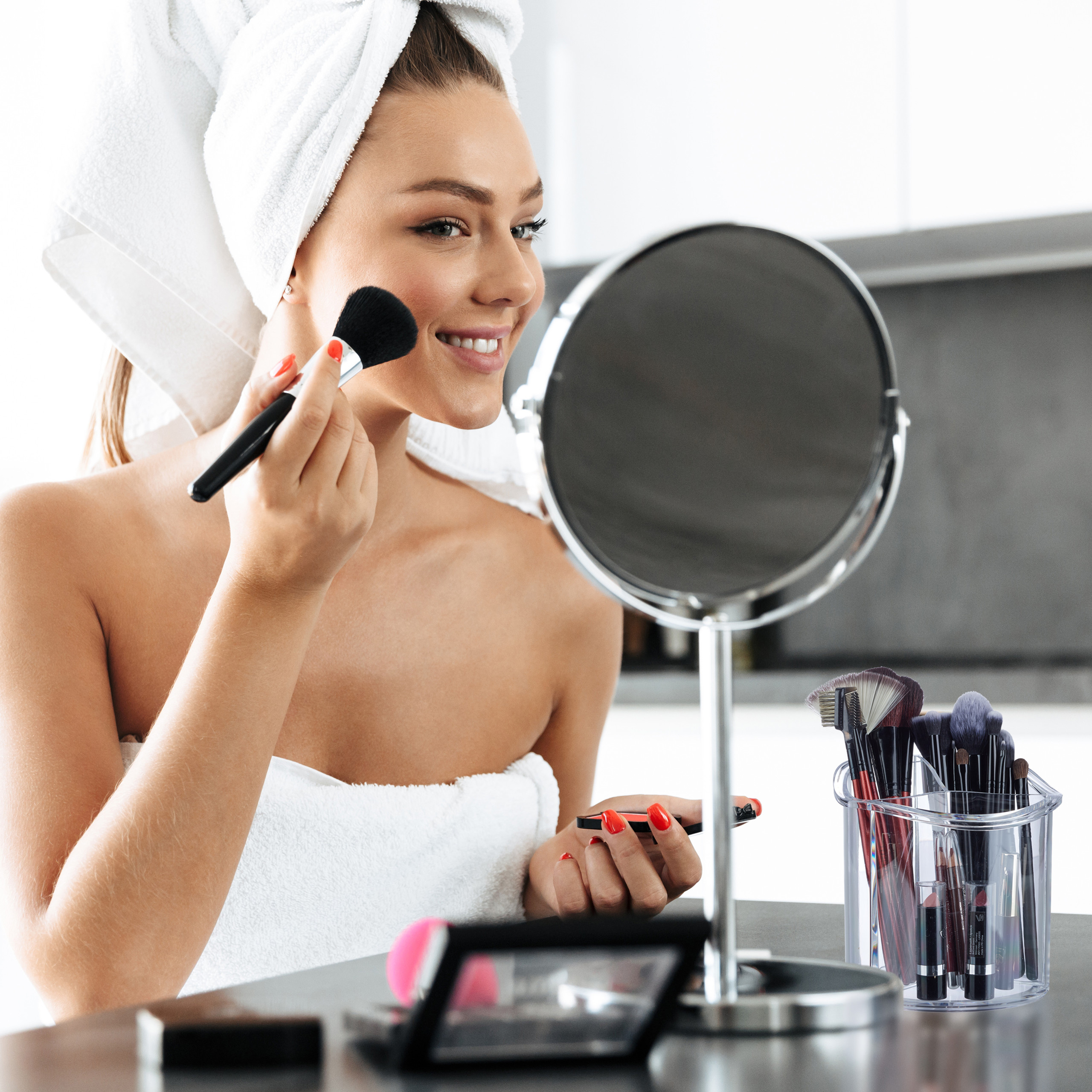 make-up-organizer-kwastenhouder-kwasten-acryl-organizer-rond miniatuur 4