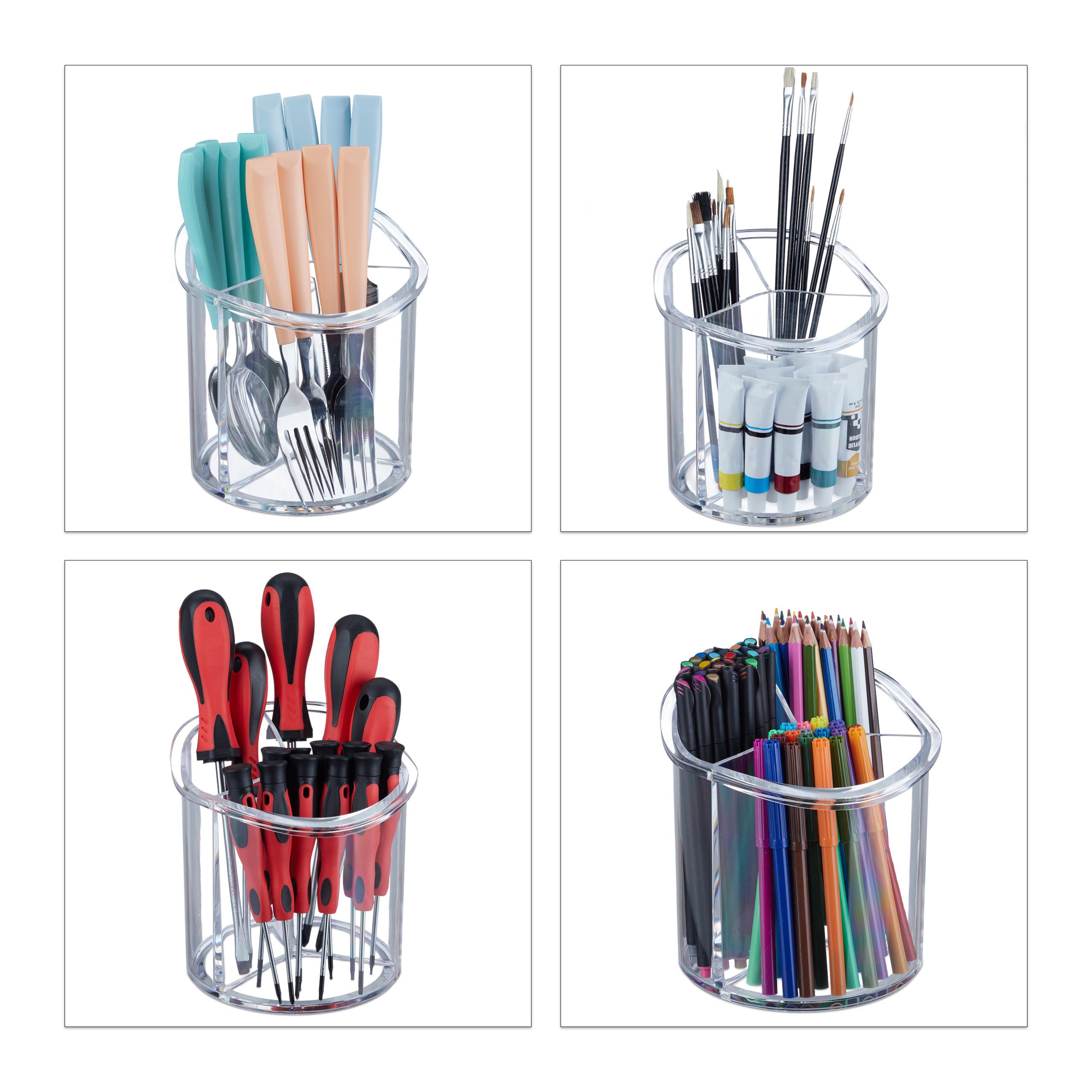 make-up-organizer-kwastenhouder-kwasten-acryl-organizer-rond miniatuur 5
