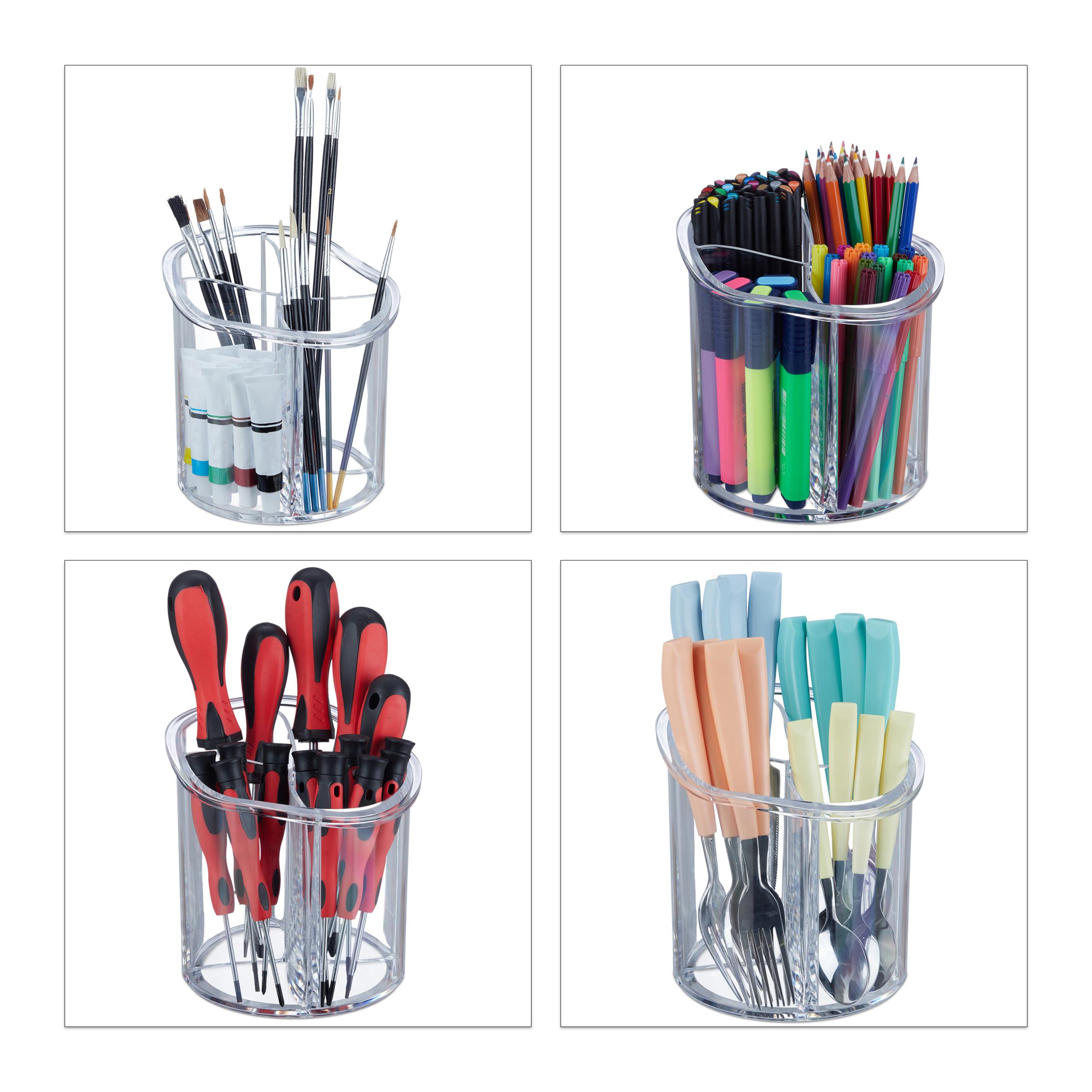 make-up-organizer-kwastenhouder-kwasten-acryl-organizer-rond miniatuur 12