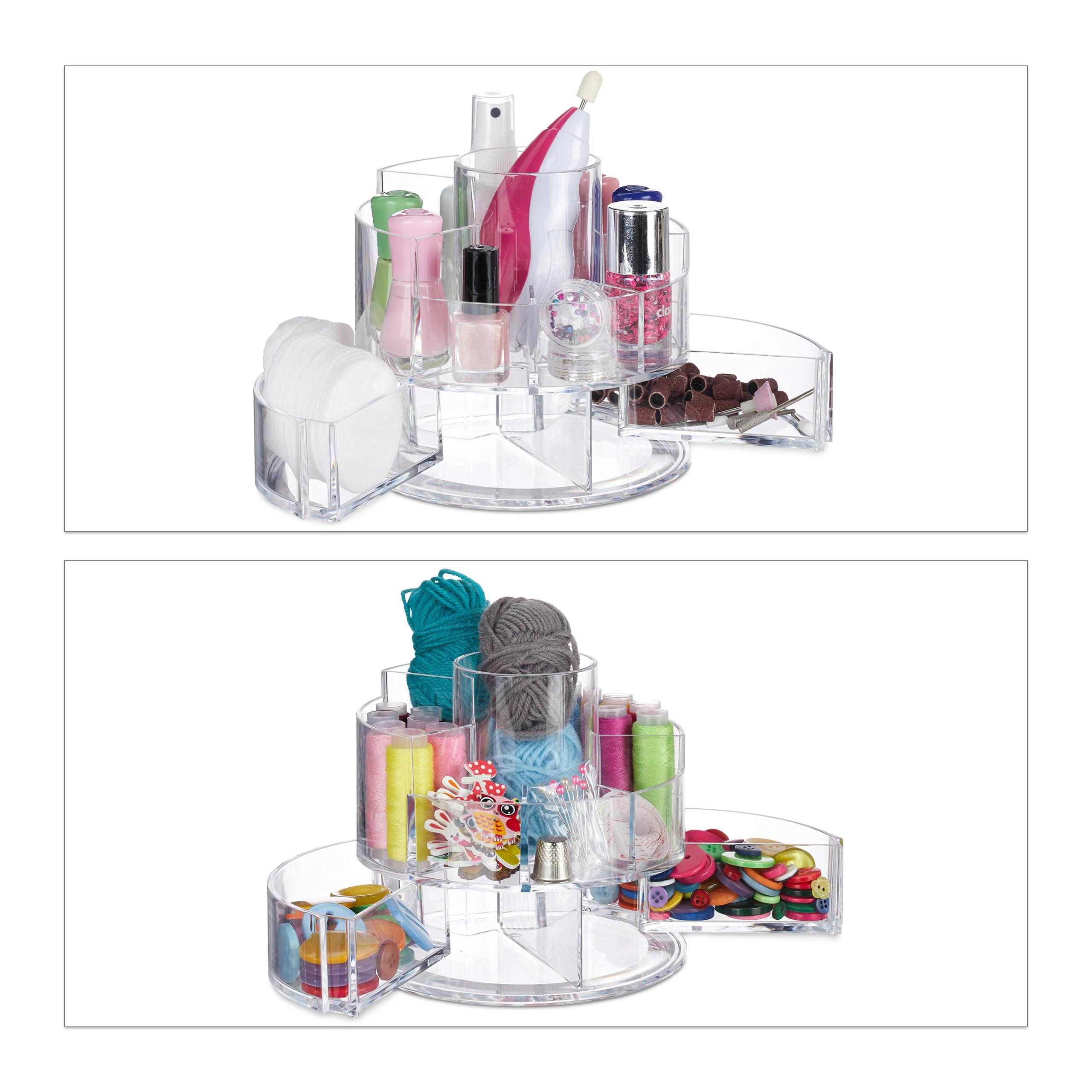 make-up-organizer-acryl-rond-cosmetica-opbergen-opbergsysteem miniatuur 10