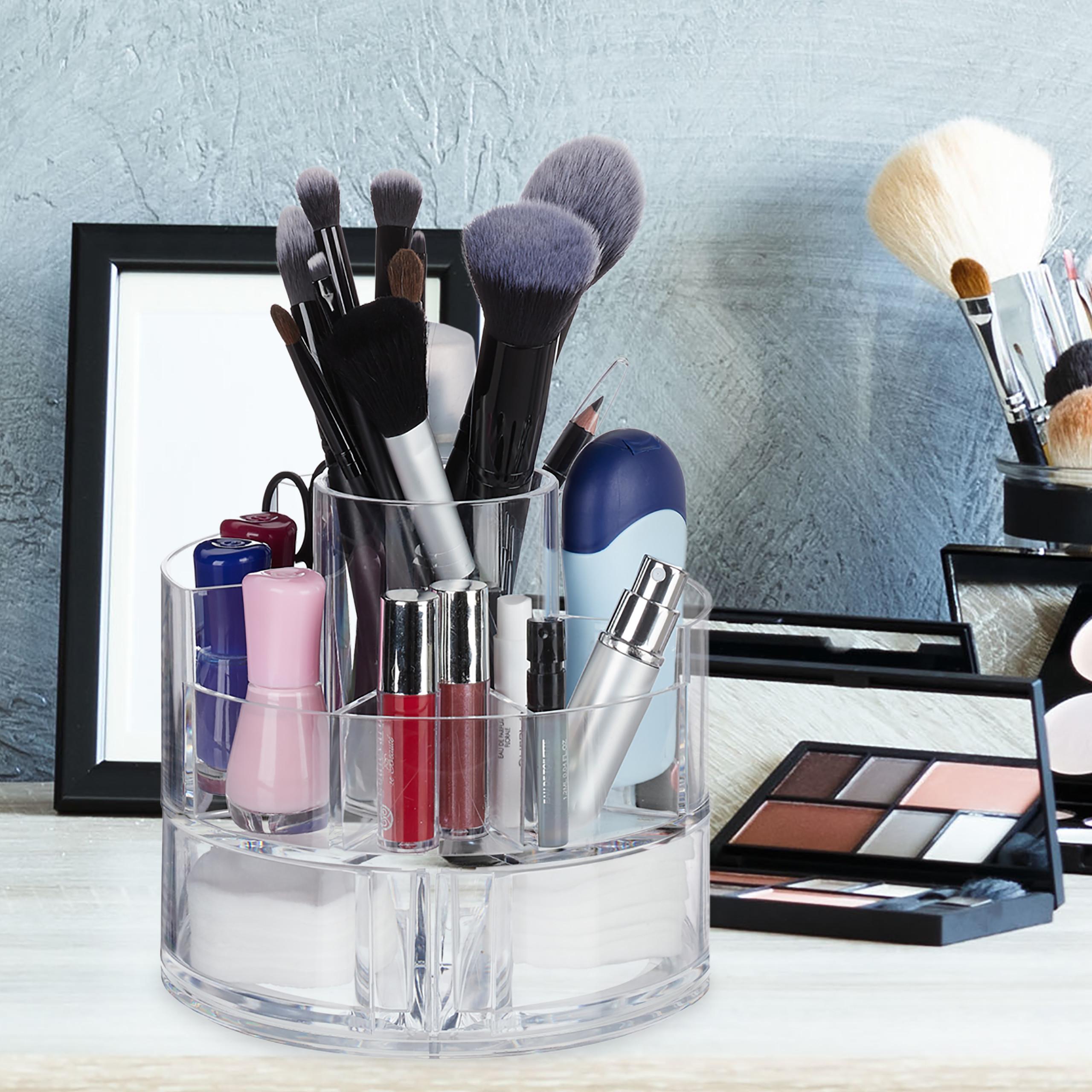 make-up-organizer-acryl-rond-cosmetica-opbergen-opbergsysteem miniatuur 11