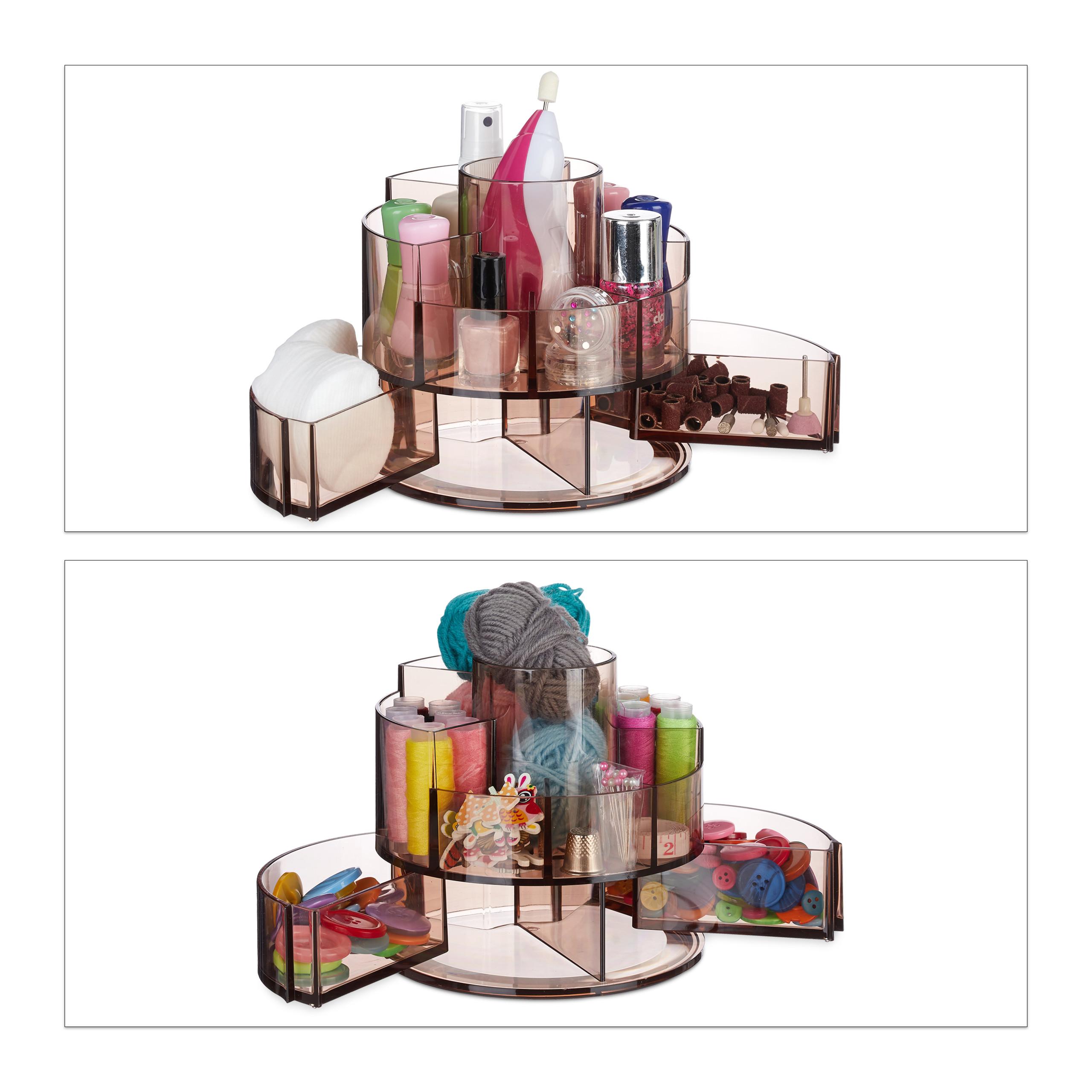 make-up-organizer-acryl-rond-cosmetica-opbergen-opbergsysteem miniatuur 4