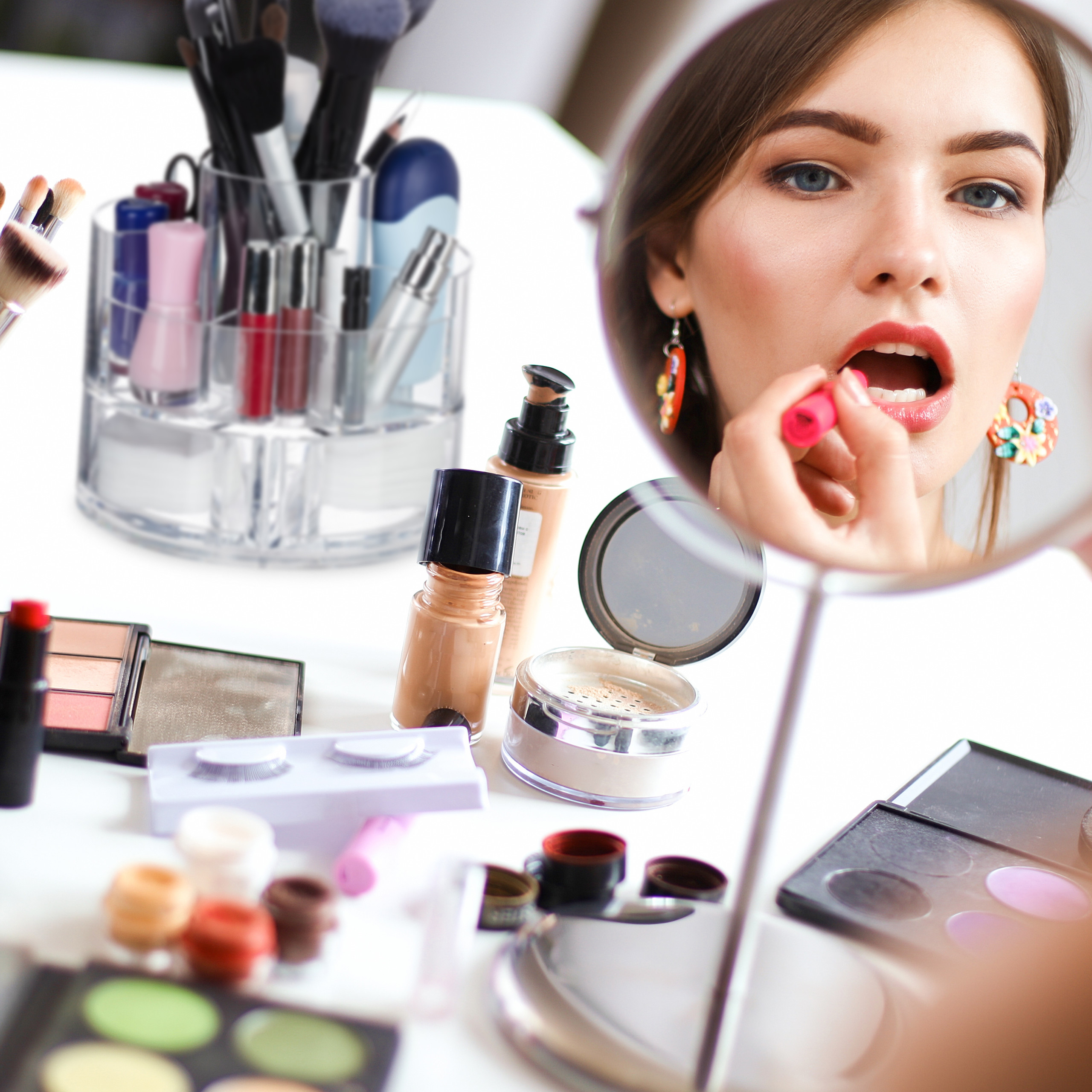 make-up-organizer-acryl-rond-cosmetica-opbergen-opbergsysteem miniatuur 6