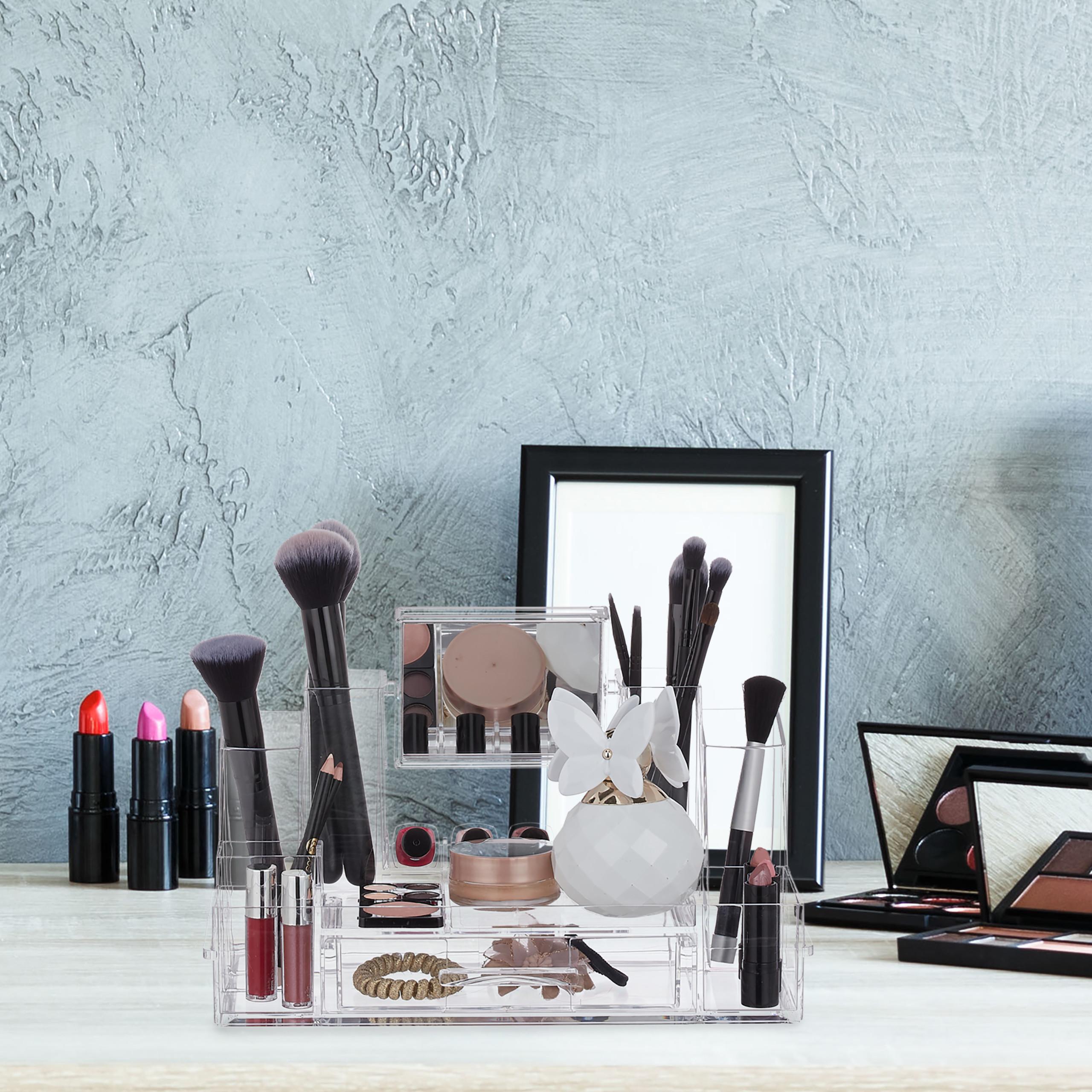 make-up-organizer-acryl-cosmetica-organizer-spiegel-sieradenkist miniatuur 5