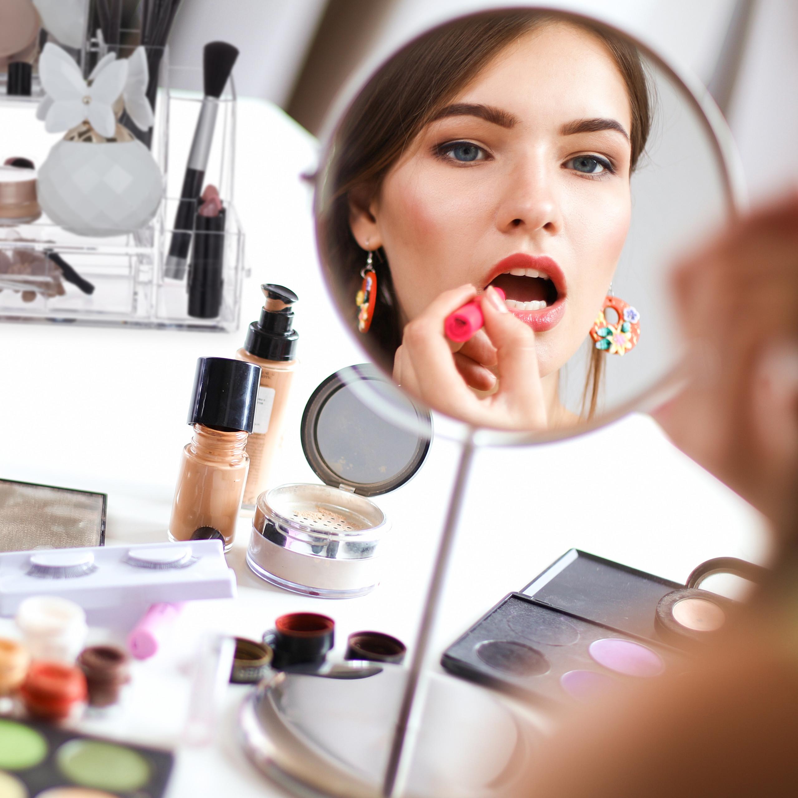 make-up-organizer-acryl-cosmetica-organizer-spiegel-sieradenkist miniatuur 6