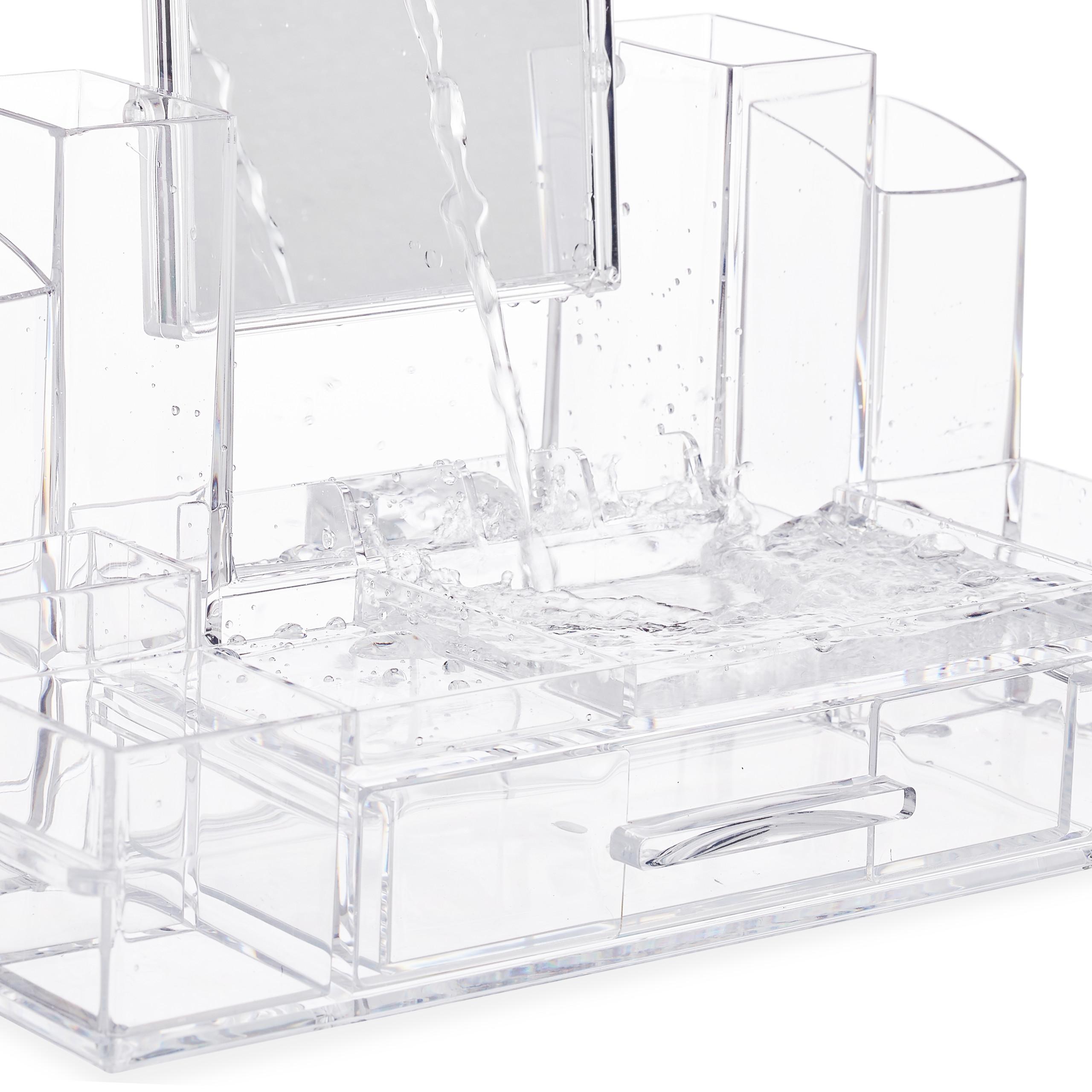 make-up-organizer-acryl-cosmetica-organizer-spiegel-sieradenkist miniatuur 7