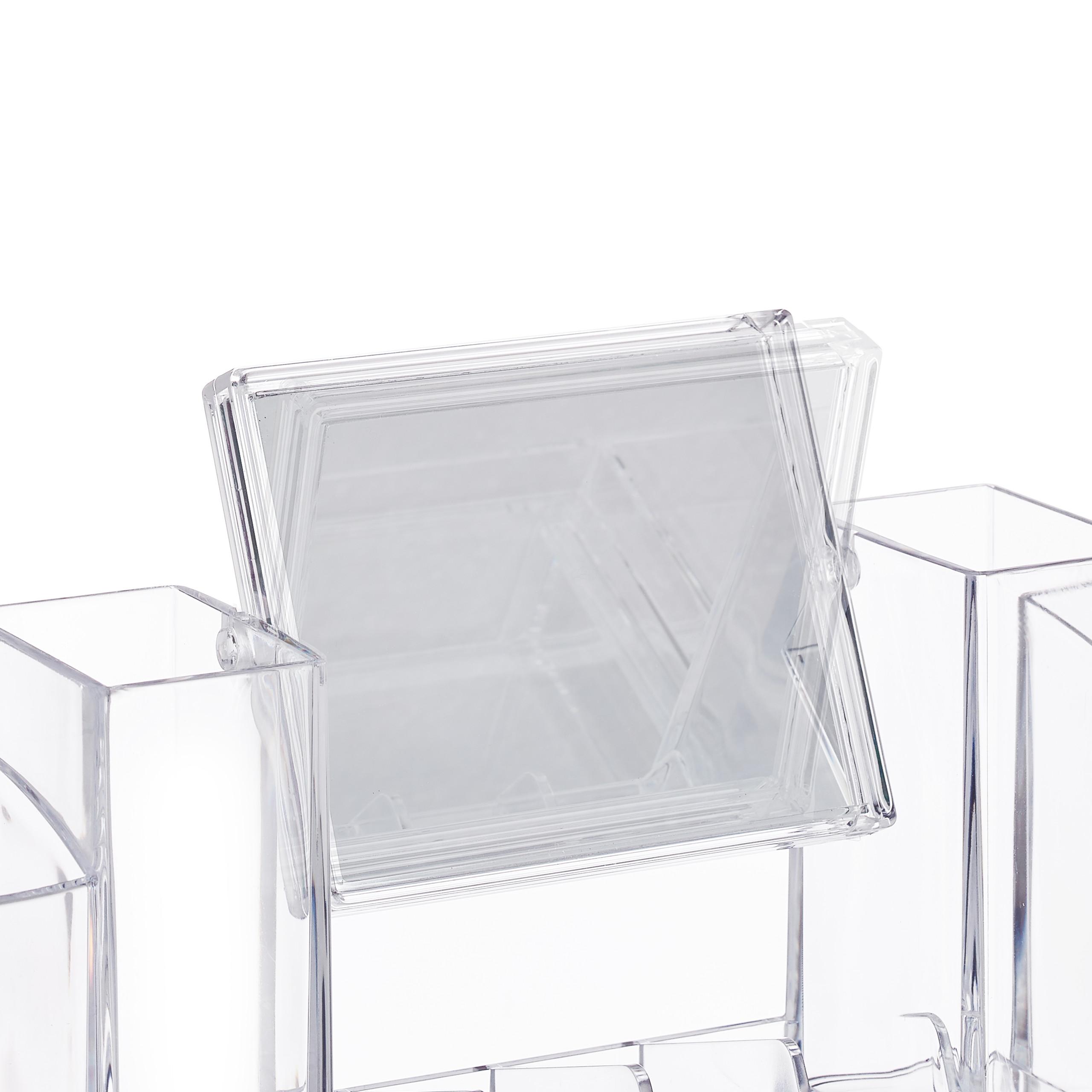 make-up-organizer-acryl-cosmetica-organizer-spiegel-sieradenkist miniatuur 8