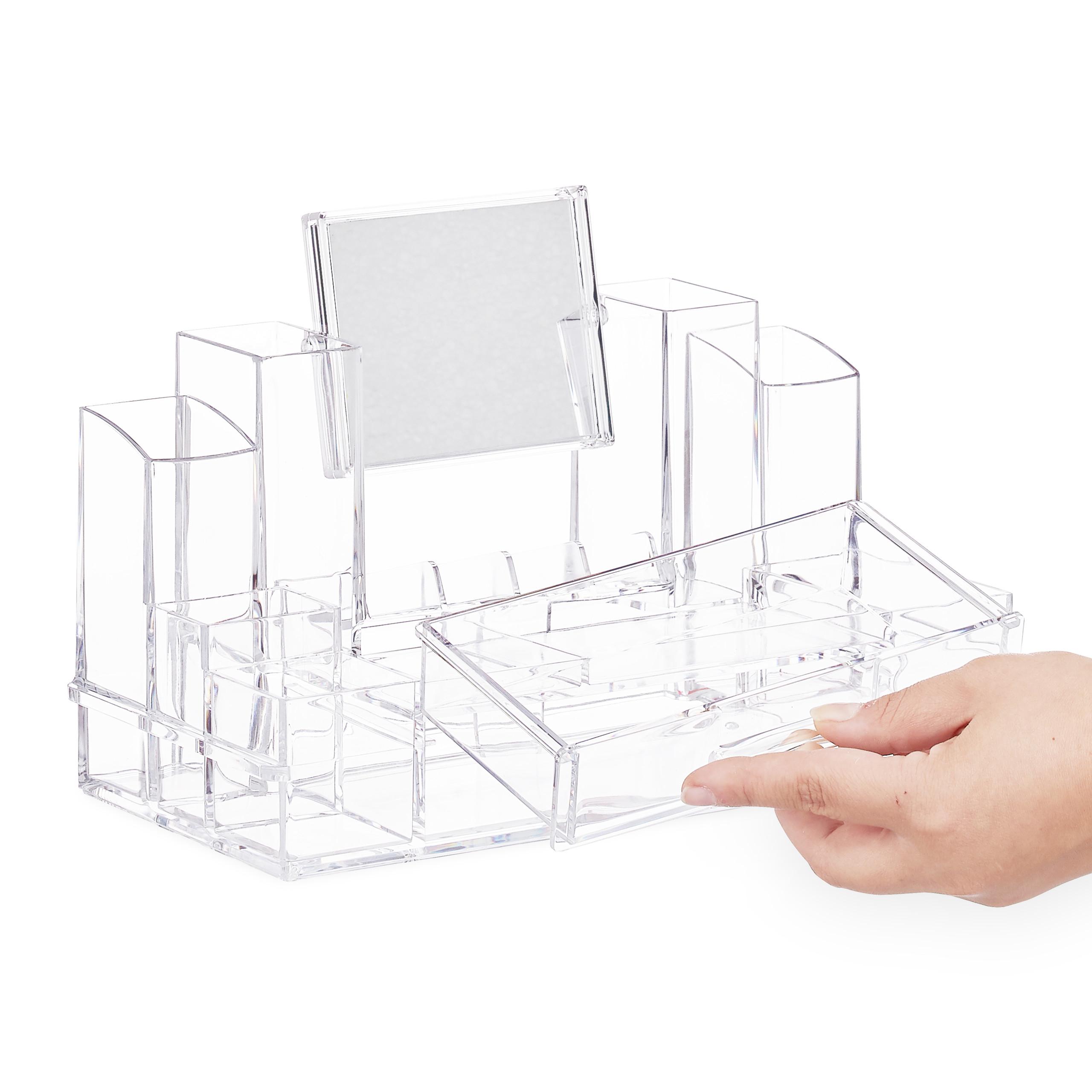 make-up-organizer-acryl-cosmetica-organizer-spiegel-sieradenkist miniatuur 9