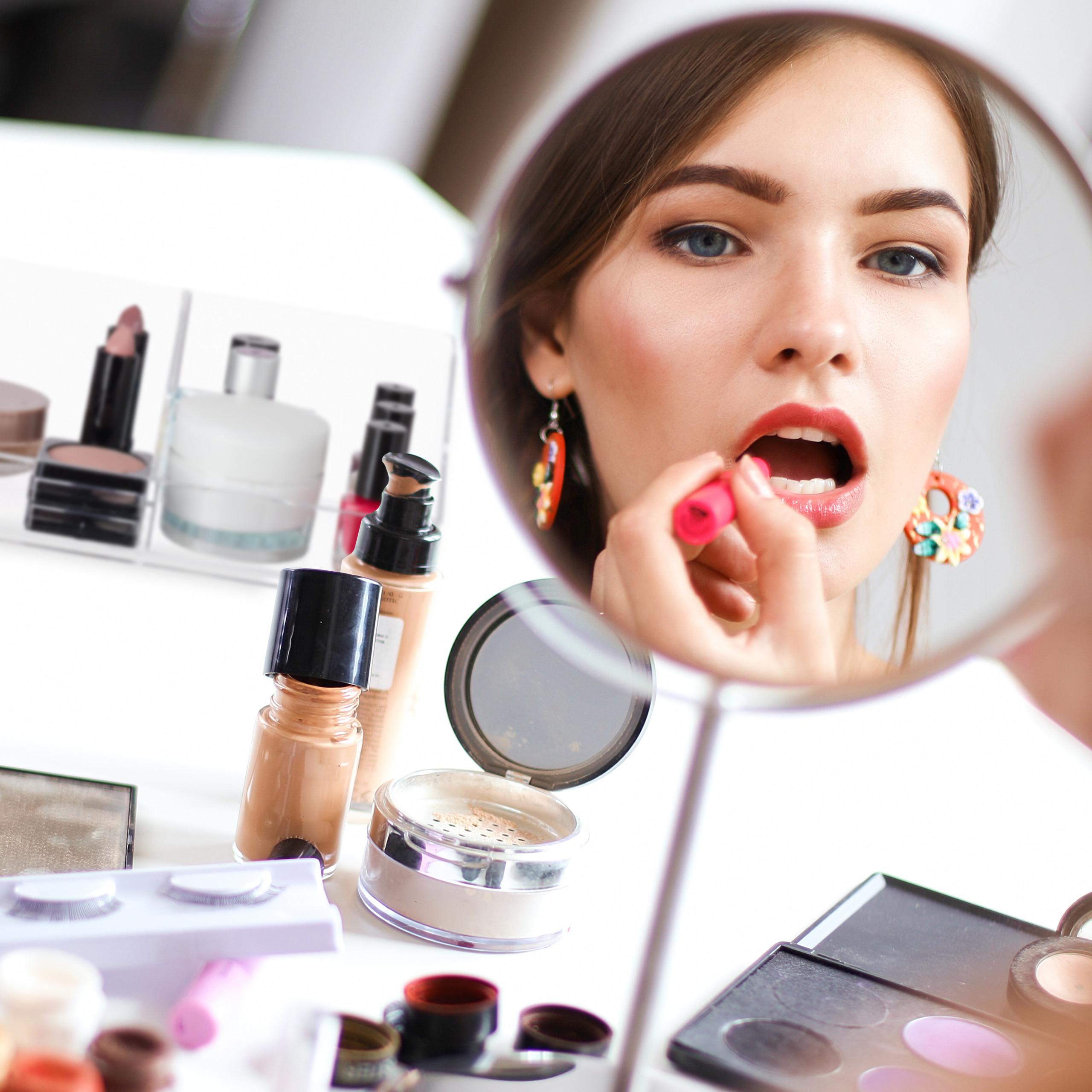 make-up-organizer-cosmetica-organizer-acryl-2-vakken-badkamer-opbergen miniatuur 6