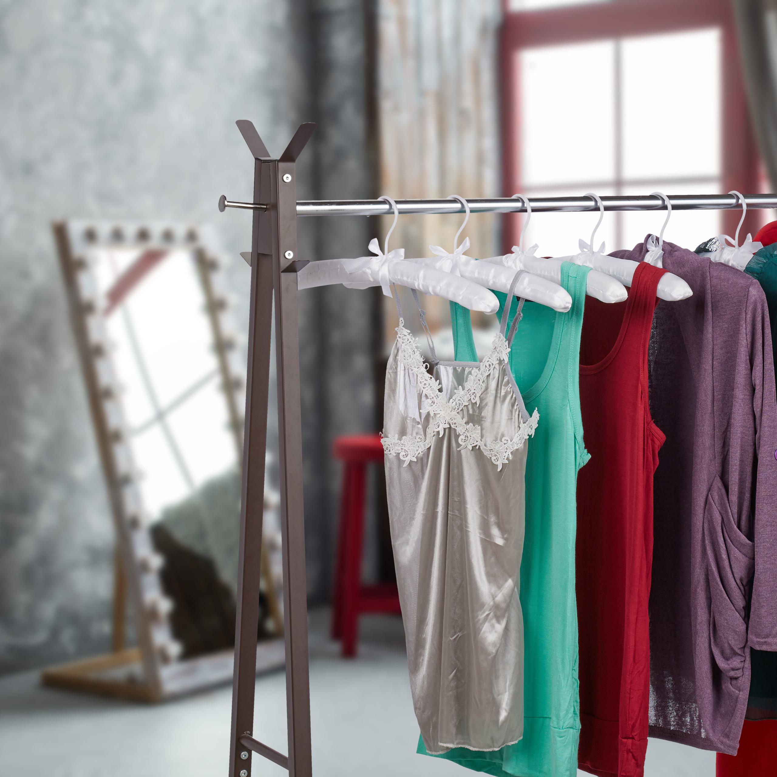 Cintre-satin-cintre-rembourre-doux-vestes-crochet-rotatif-360-noeud-noir-5 miniature 3