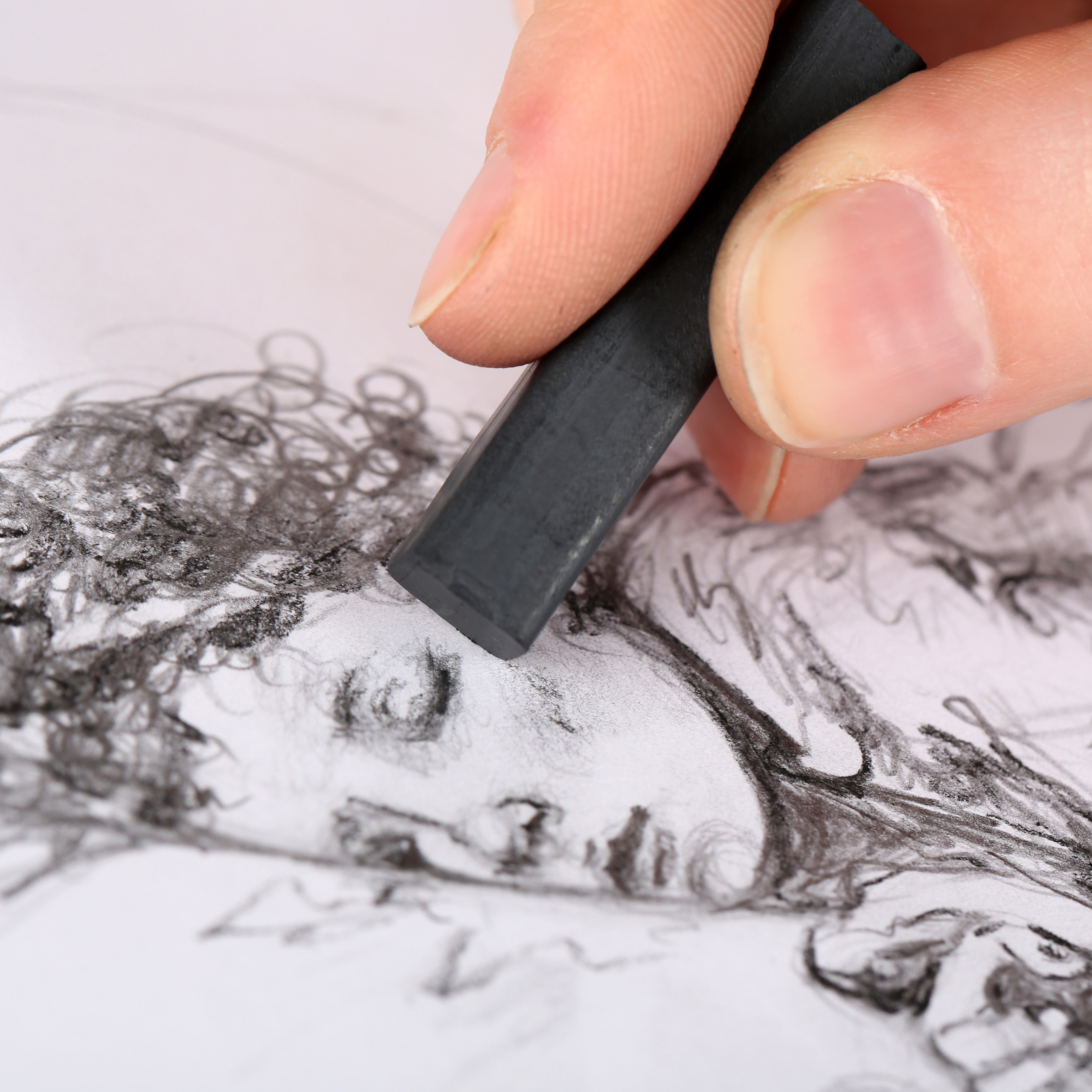 tekenset-hout-tekenkoffer-tekenspullen-tekendoos-48-delig miniatuur 5