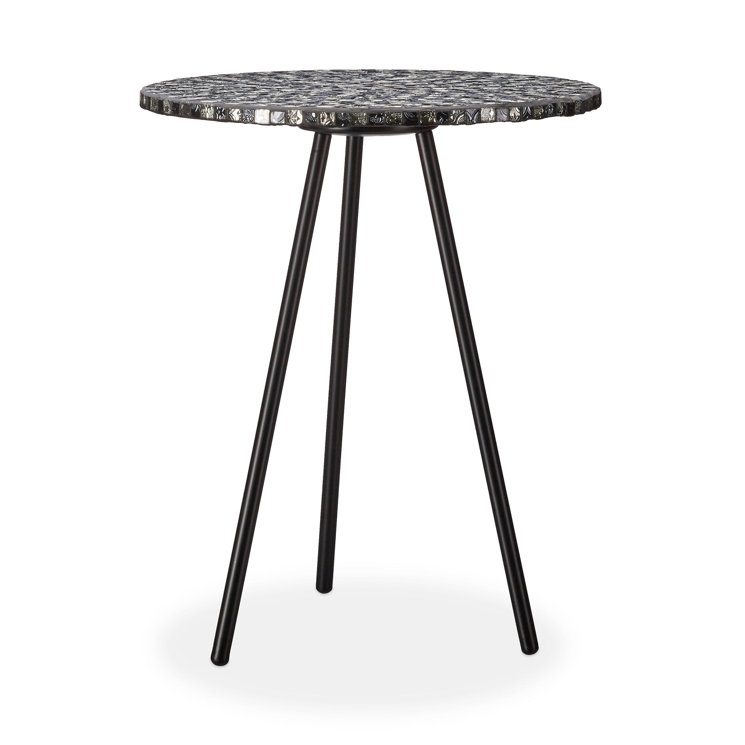Détails sur Table ronde mosaïque, table d'appoint, décorative, table de  jardin, fait main