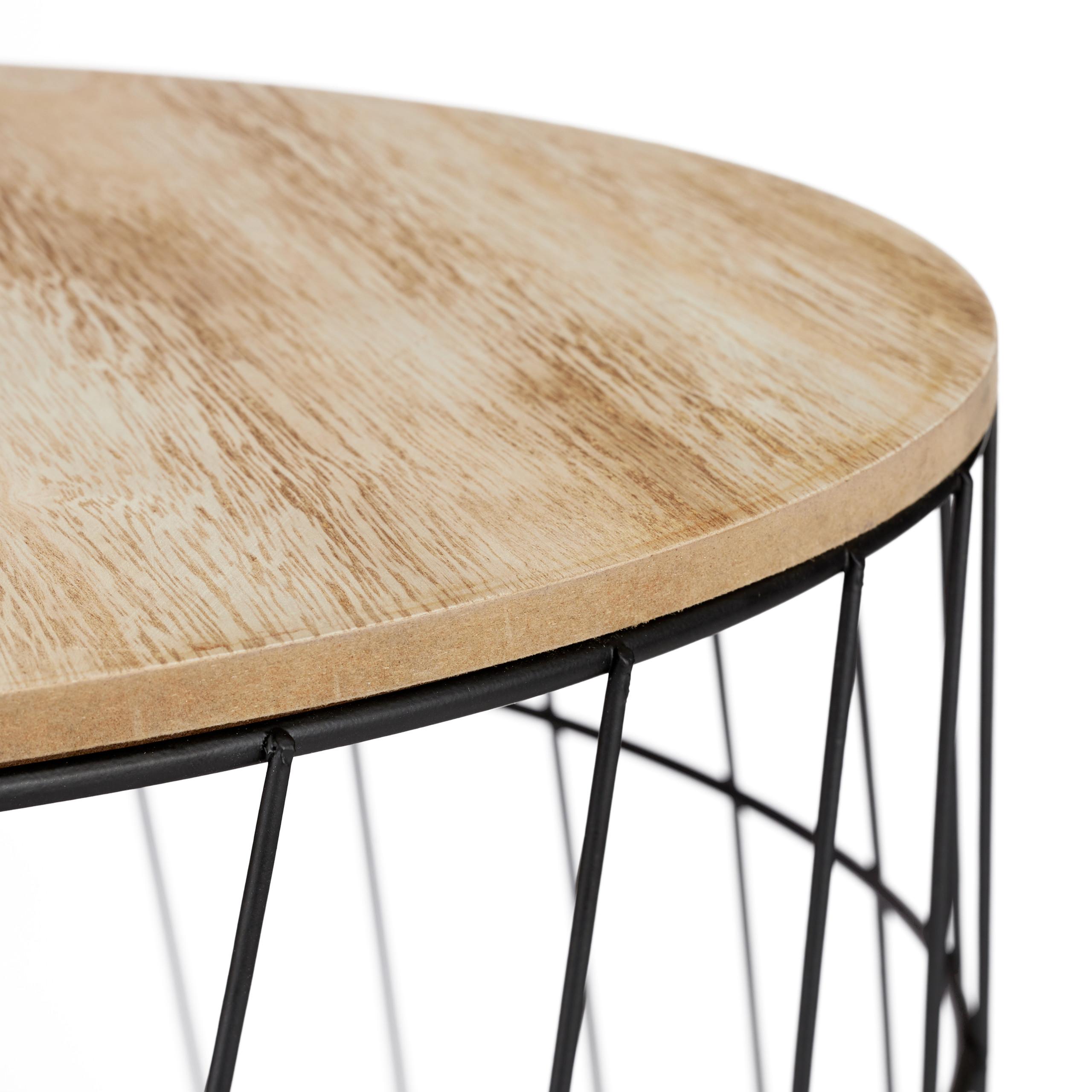 MDF m/étal chats et chiots 2 fonctions en une Meuble d/'appoint fil,Coussin Relaxdays 40 x 50 x 50 cm noir Table panier avec liti/ère coton