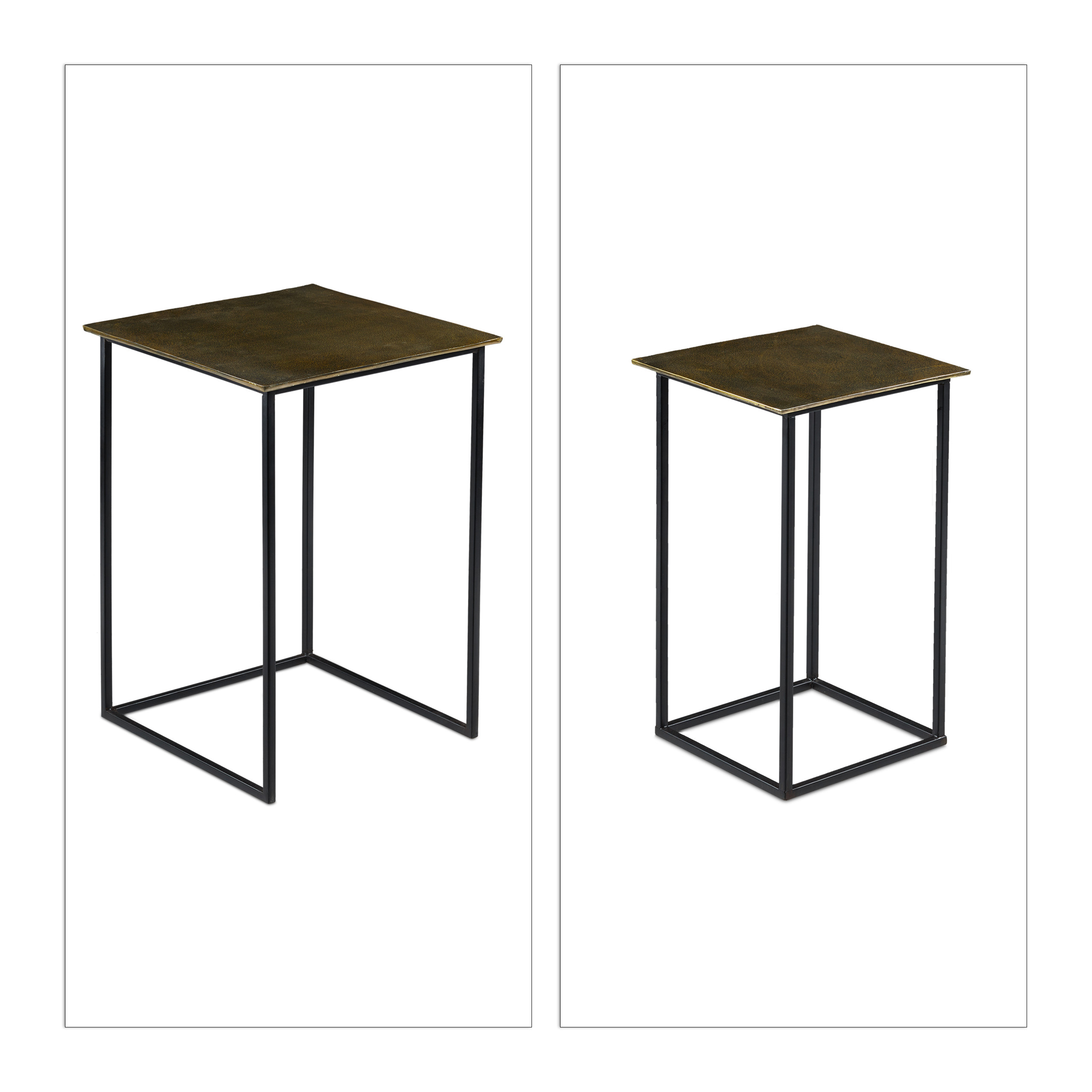 Nesting-Table-Set-of-2-Decorative-Side-Table-Retro-Vanity-Stand-Coffee-Table thumbnail 6