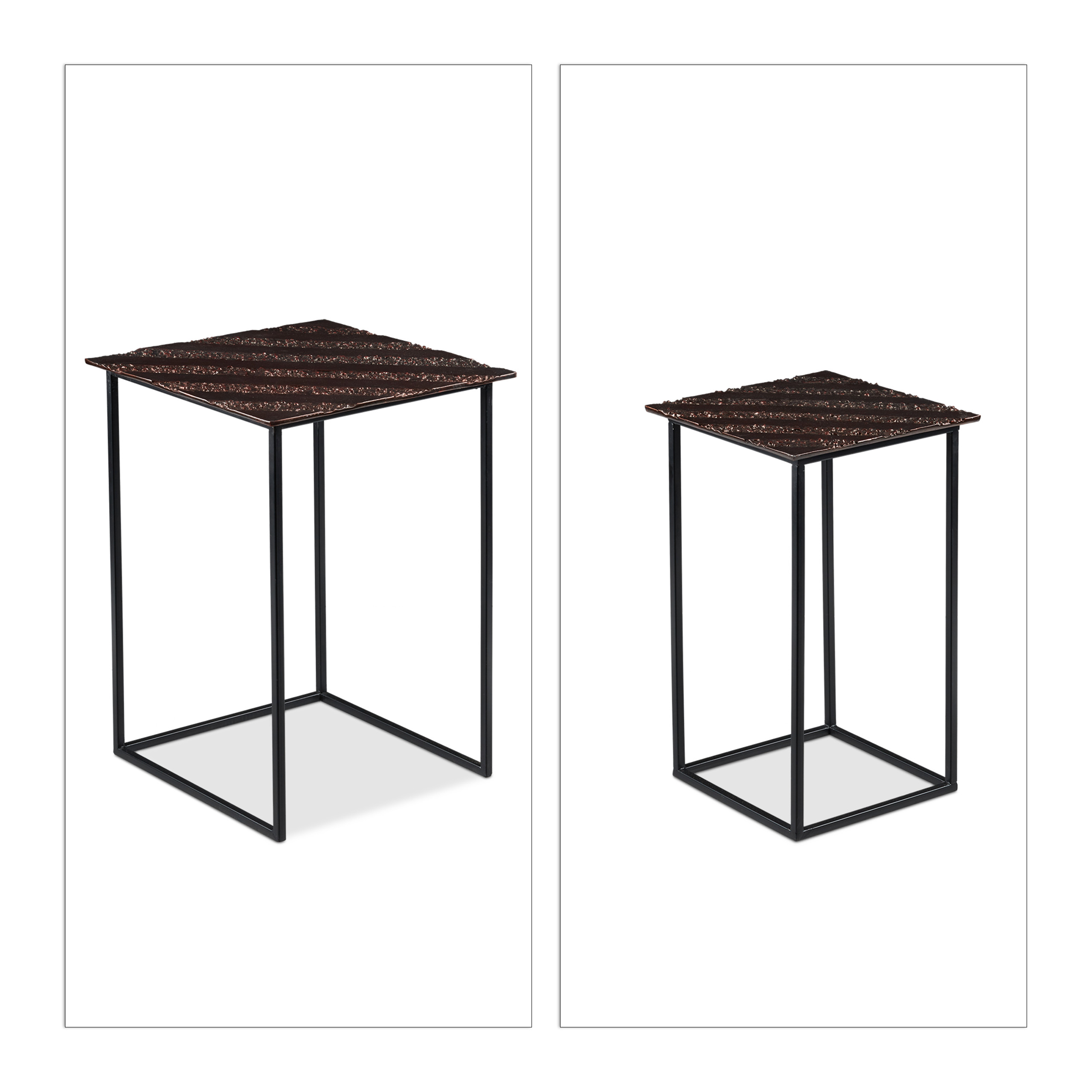Nesting-Table-Set-of-2-Decorative-Side-Table-Retro-Vanity-Stand-Coffee-Table thumbnail 14