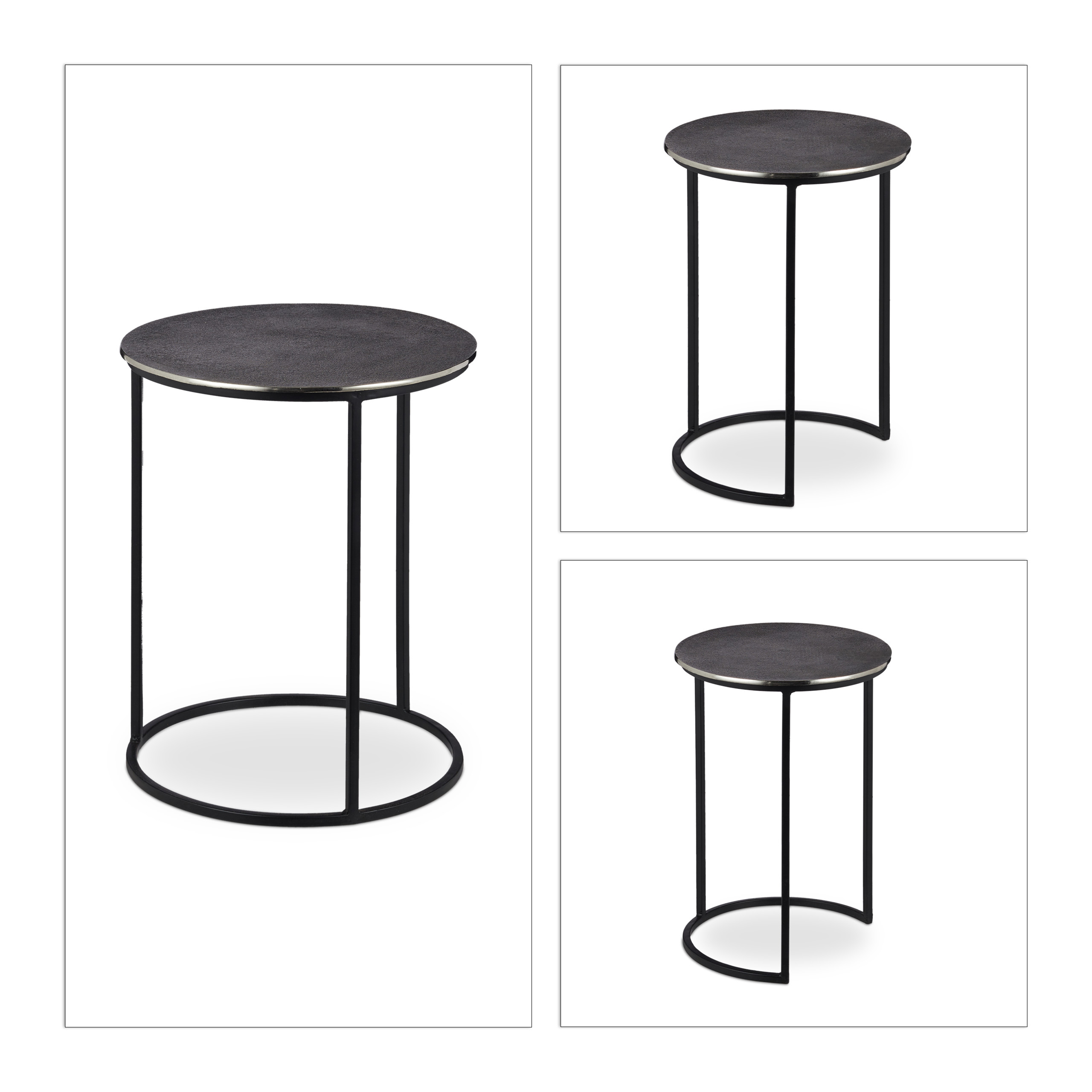 Antique-Style-Nesting-Tables-Set-of-3-Round-Decorative-Stands-Side-Table thumbnail 5