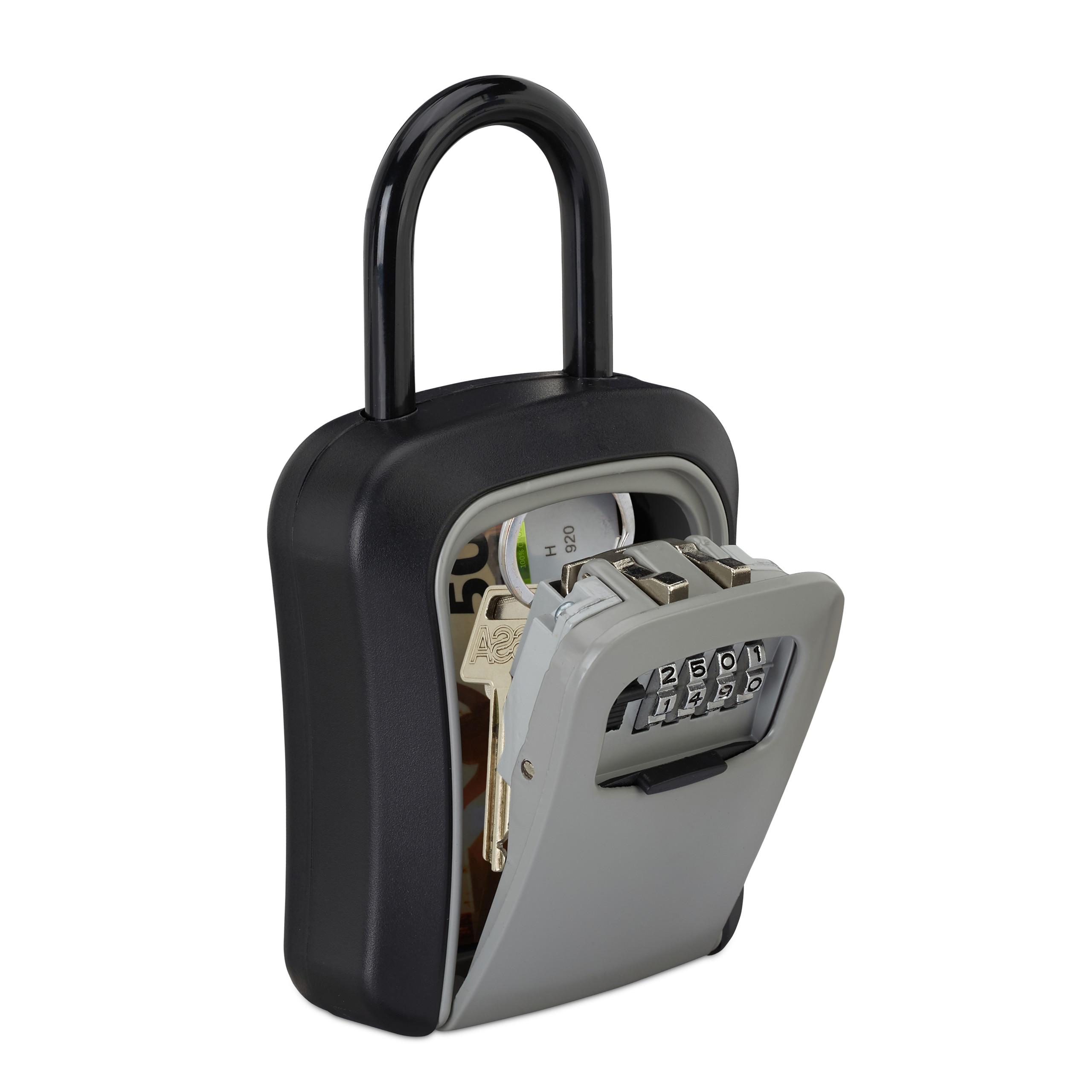 Schlüsselsafe Schlüsseltresor Keysafe Zahlenschloss Minitresor Wandmontage Haus