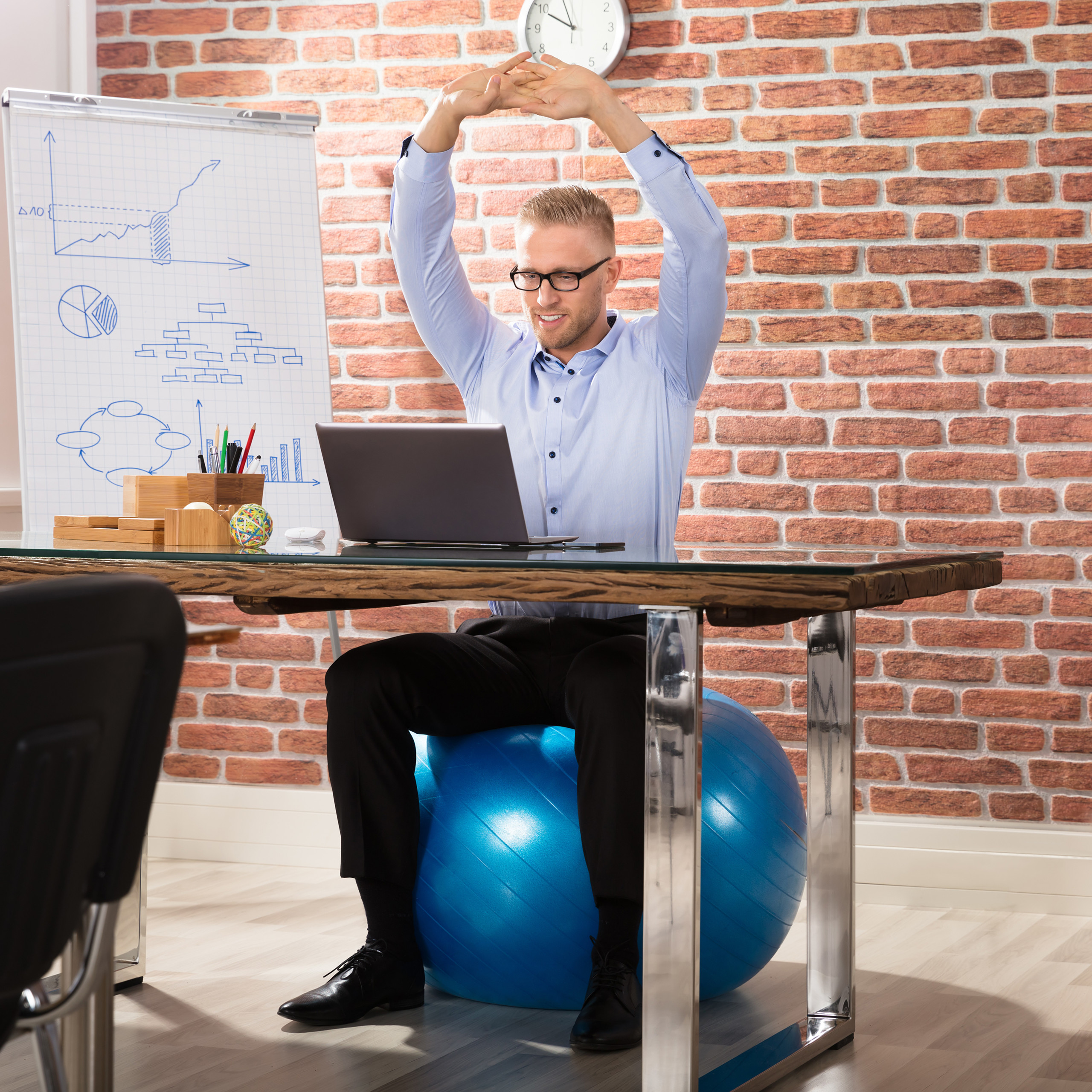 Exercise-Ball-75-cm-PVC-Yoga-Ball-Office-Seat-Gym-Ball-Pilates thumbnail 10