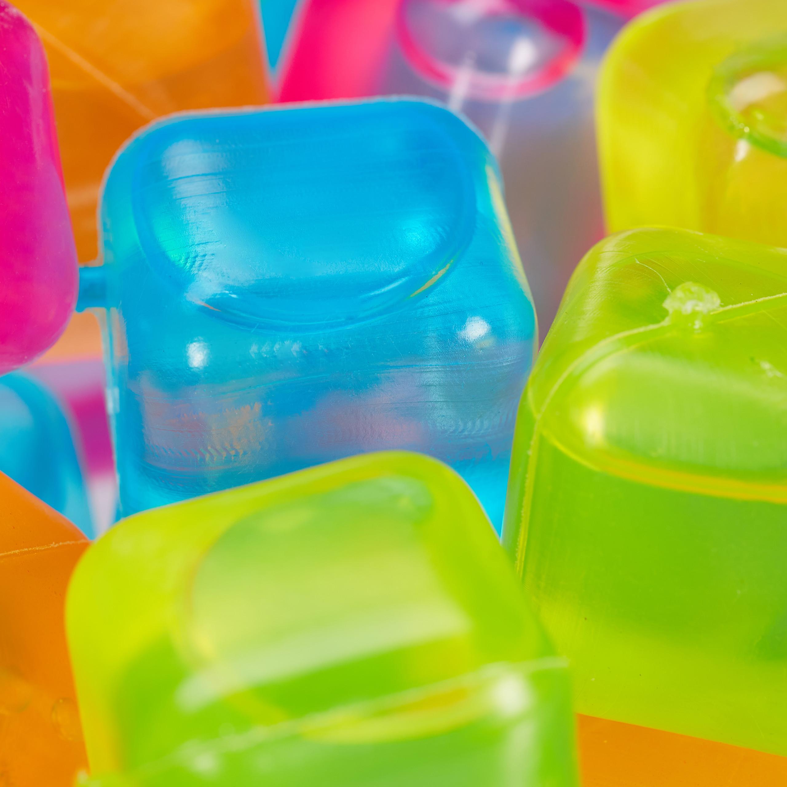 Party Eiswürfel Eiswürfelform Dauereiswürfel 20 Stück BUNT-S//W  wiederverwendbar