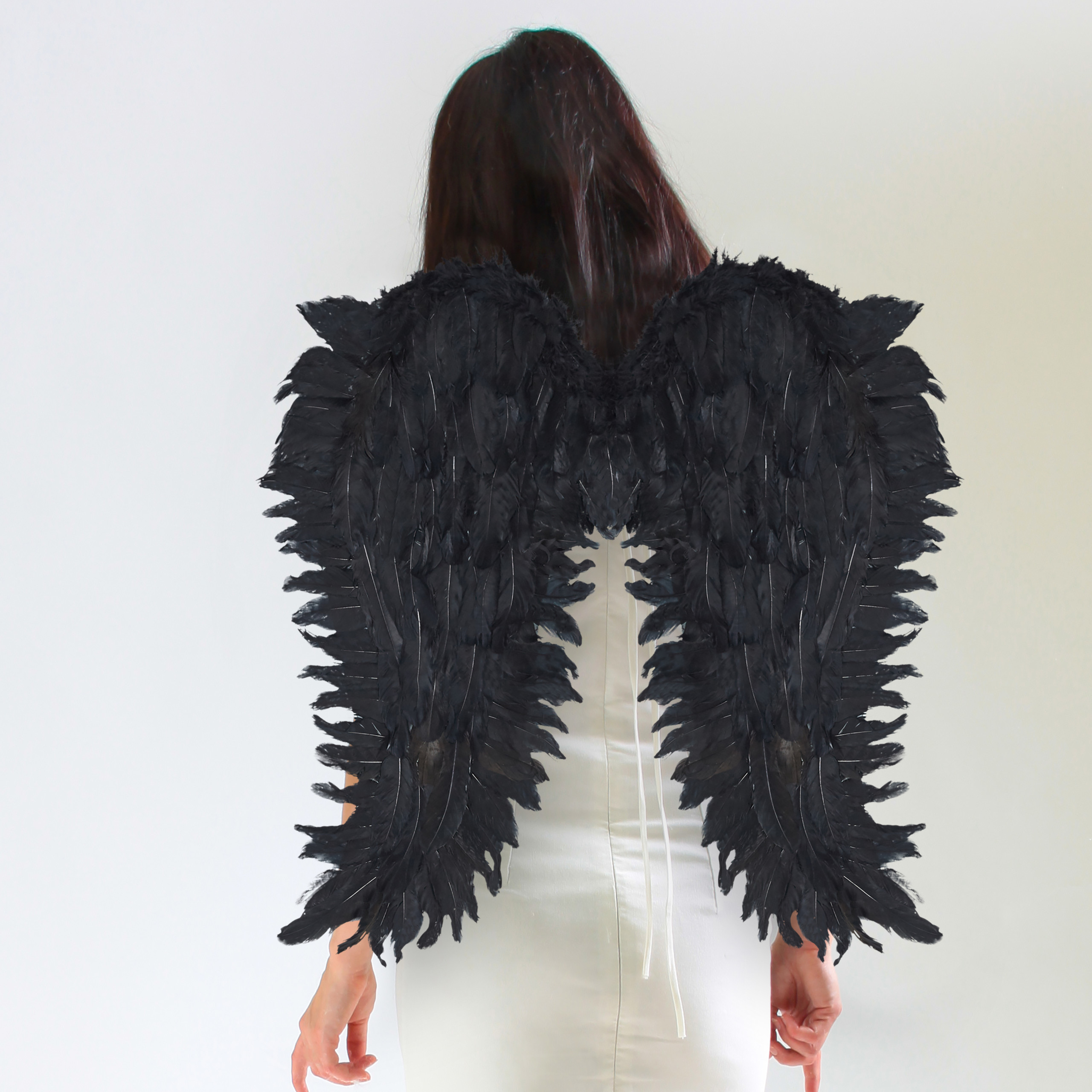 vleugels-verkleedkleding-XXL-engelenvleugels-engelkostuum-kunstveren miniatuur 10