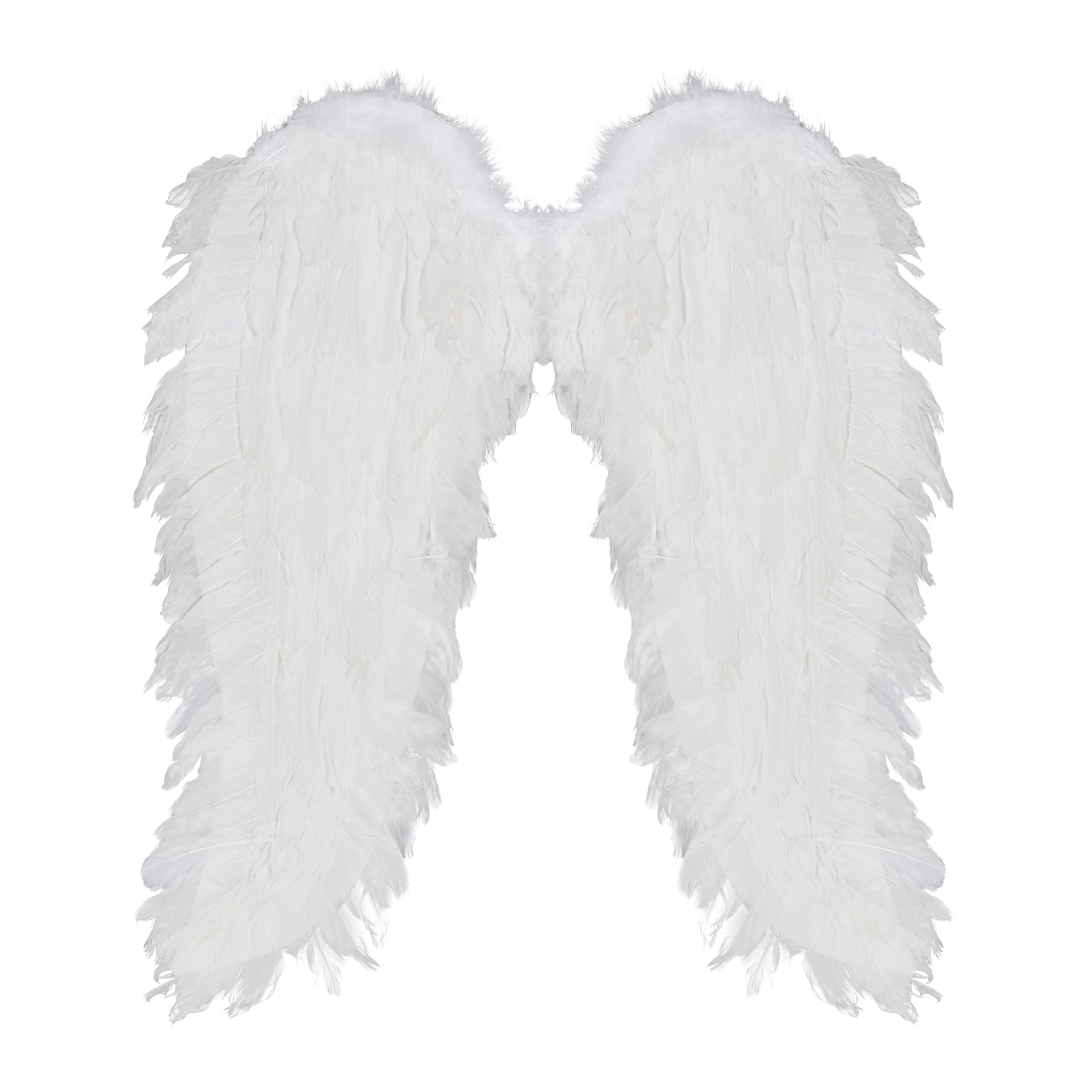 vleugels-verkleedkleding-XXL-engelenvleugels-engelkostuum-kunstveren miniatuur 5