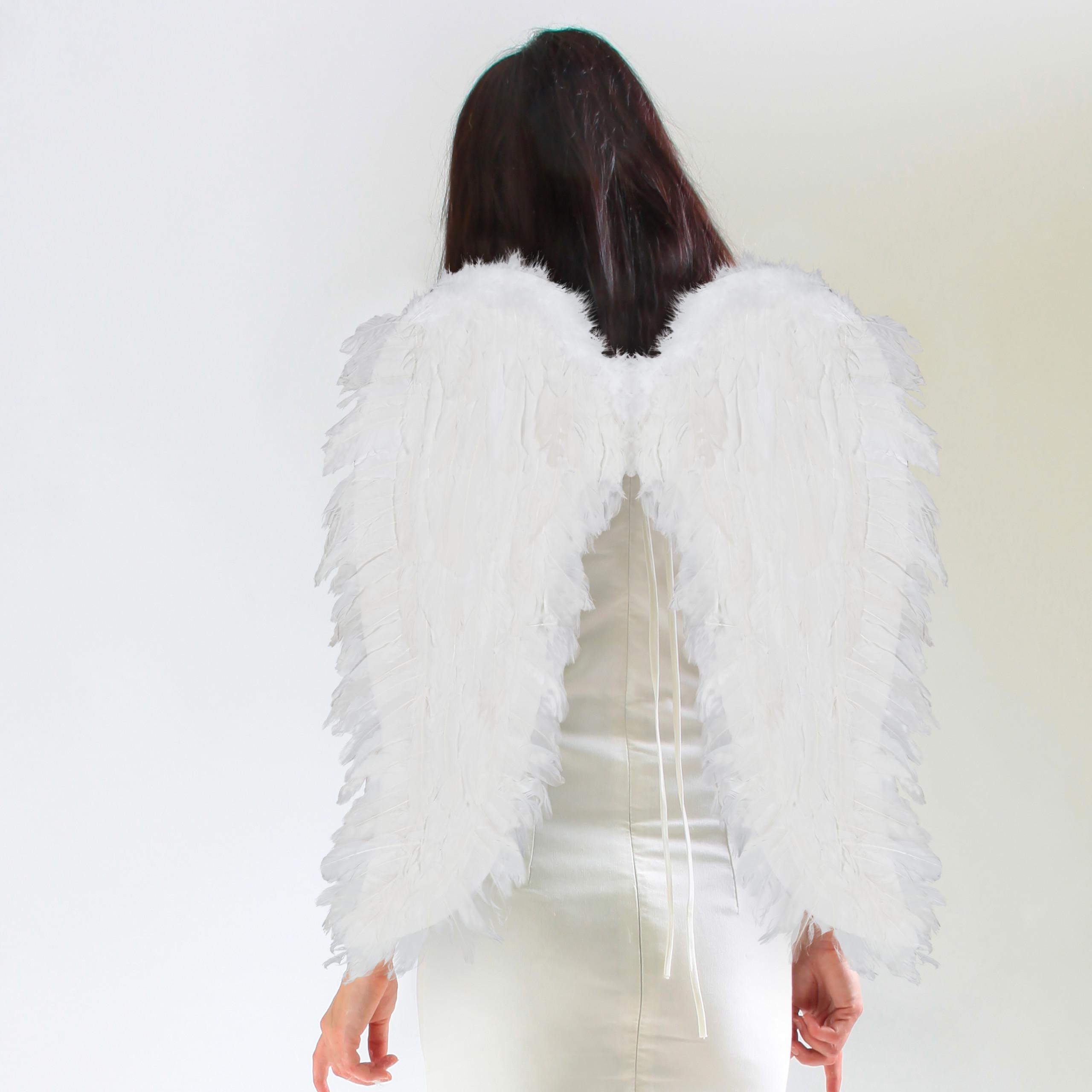 vleugels-verkleedkleding-XXL-engelenvleugels-engelkostuum-kunstveren miniatuur 3