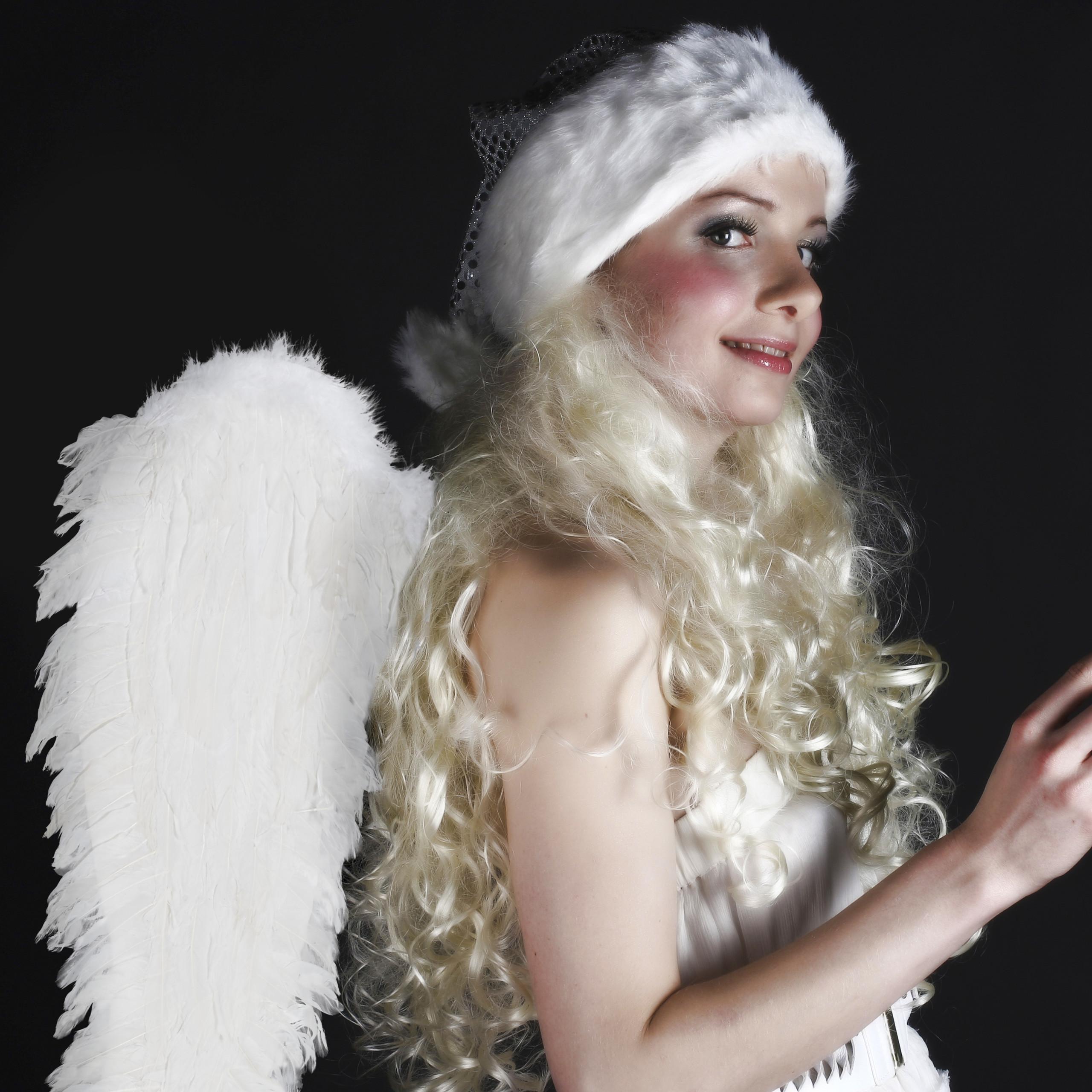 vleugels-verkleedkleding-XXL-engelenvleugels-engelkostuum-kunstveren miniatuur 6
