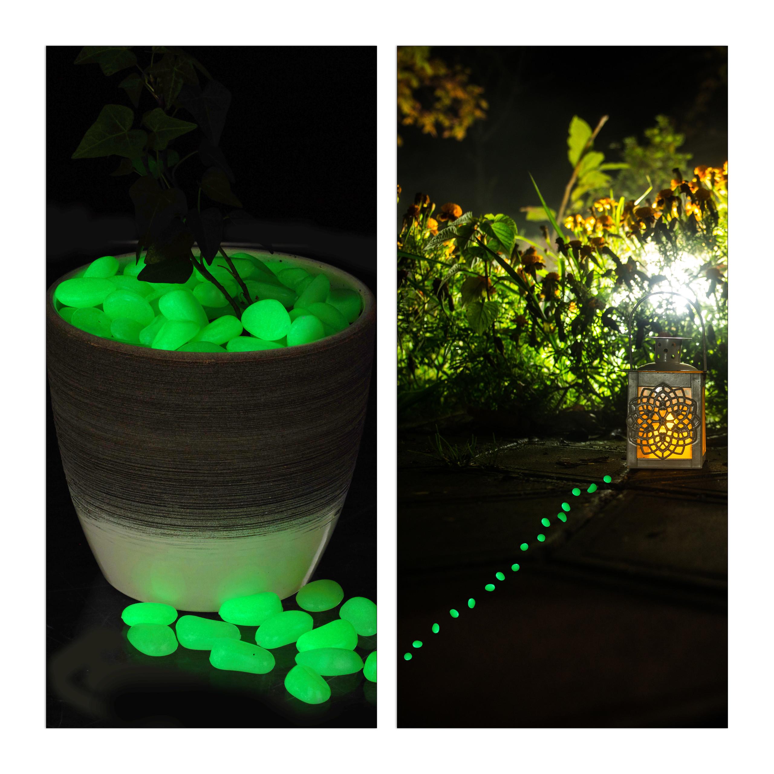 Détails sur 400x Pierre lumineuse fluorescente jardin pierre décoration  aquarium nuit