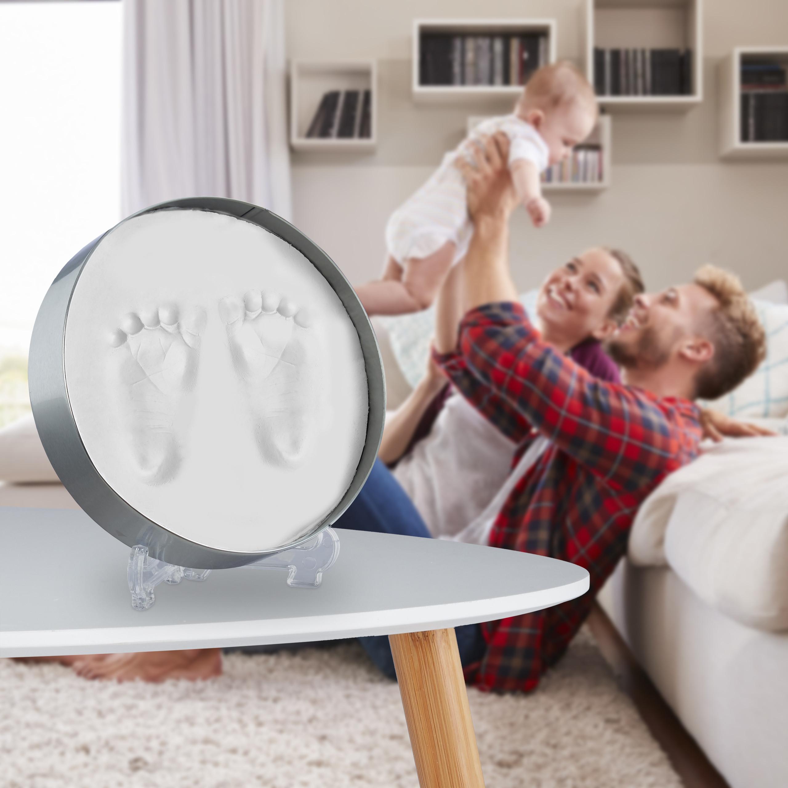 Gipsabdruck-Baby-Gipsabdruckset-Fussabdruck-Handabdruck-Babyabdruck-Set-Gips Indexbild 3