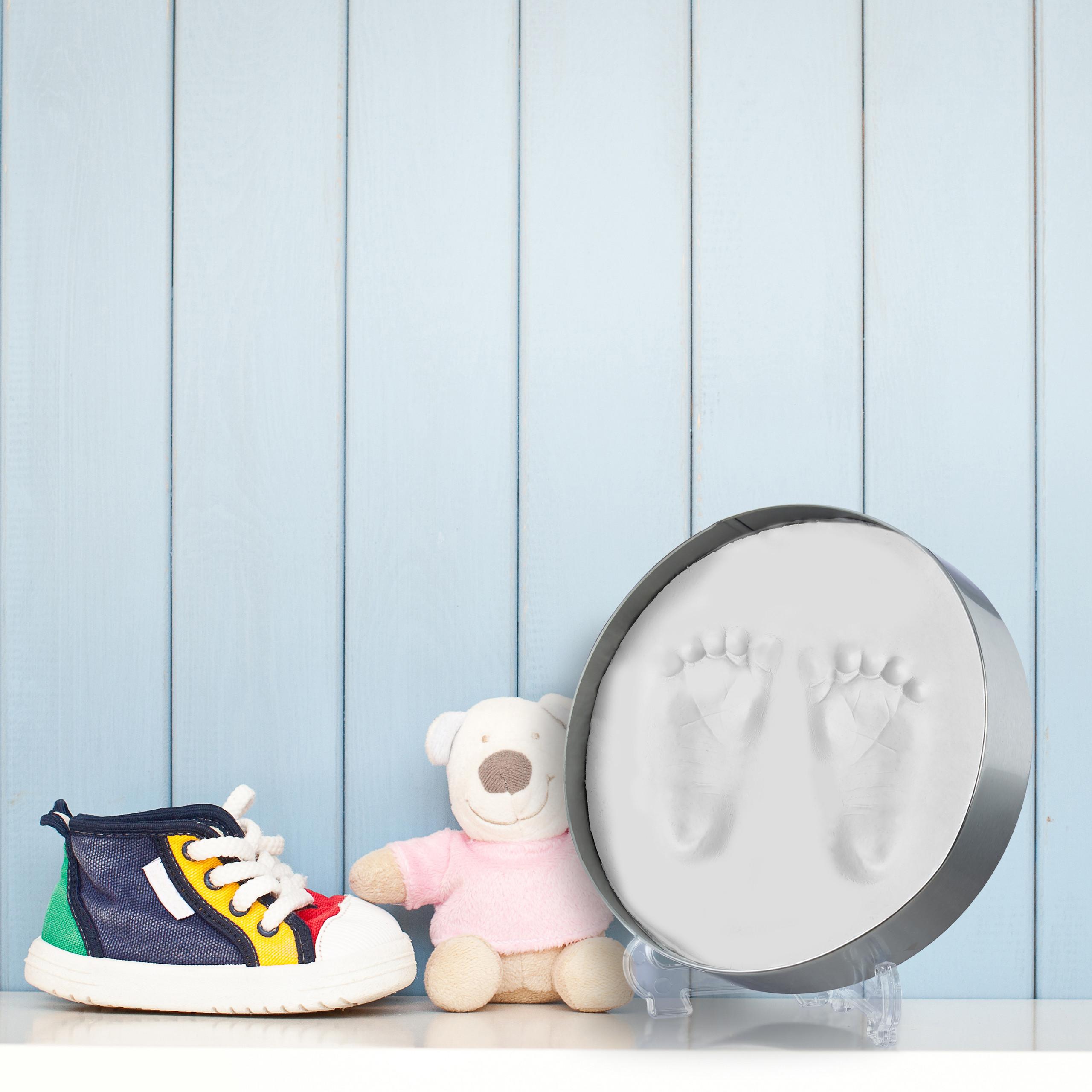 Gipsabdruck-Baby-Gipsabdruckset-Fussabdruck-Handabdruck-Babyabdruck-Set-Gips Indexbild 4