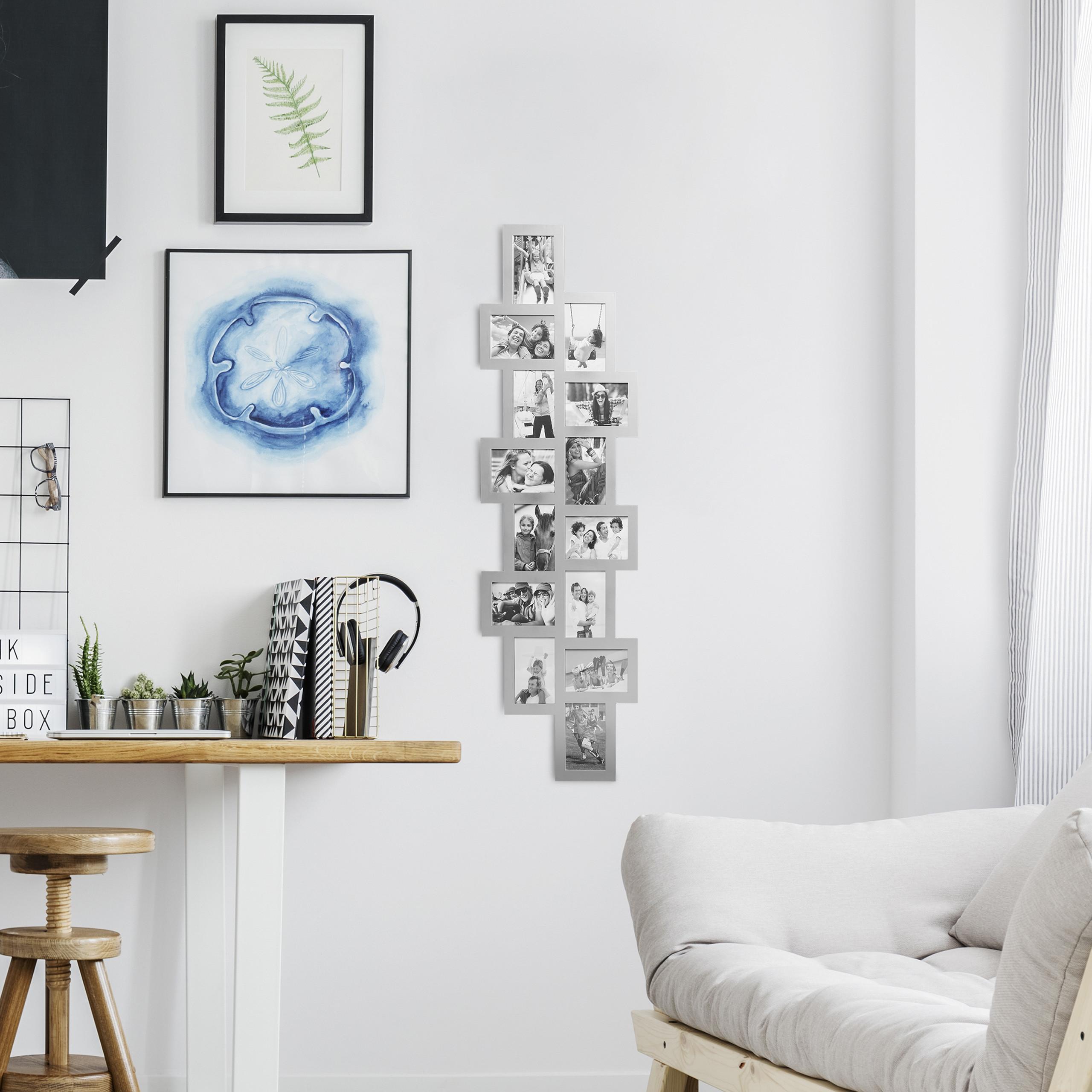 bilderrahmen collage f r 14 fotos fotorahmen mehrere fotos. Black Bedroom Furniture Sets. Home Design Ideas