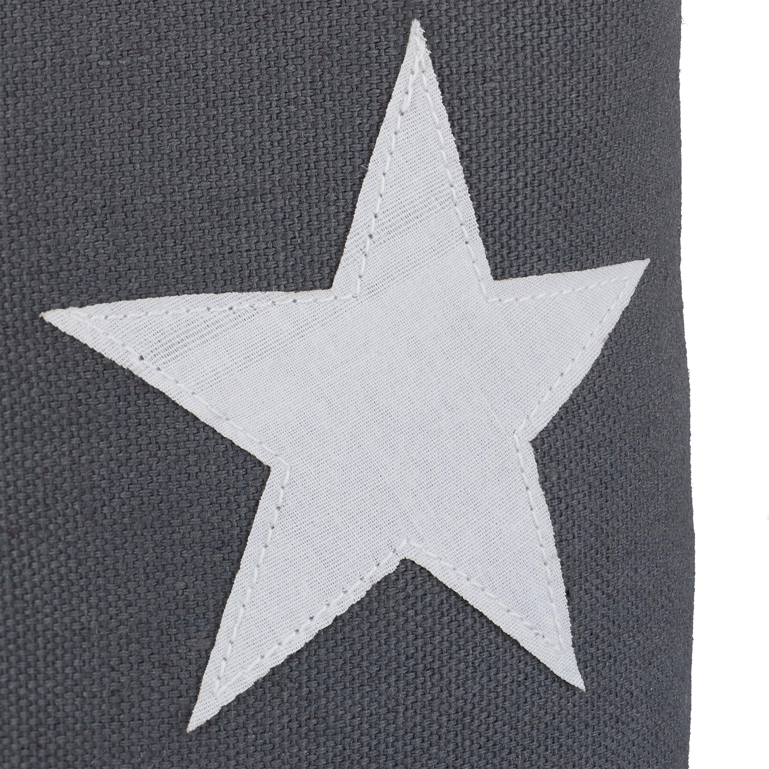 H x D: ca mit Griff Baumwolle dekorativ extra hoch T/ürpuffer Stoff dunkelgrau T/ürstopper Stern Relaxdays T/ürsack Boden HxD 23 x 11 cm