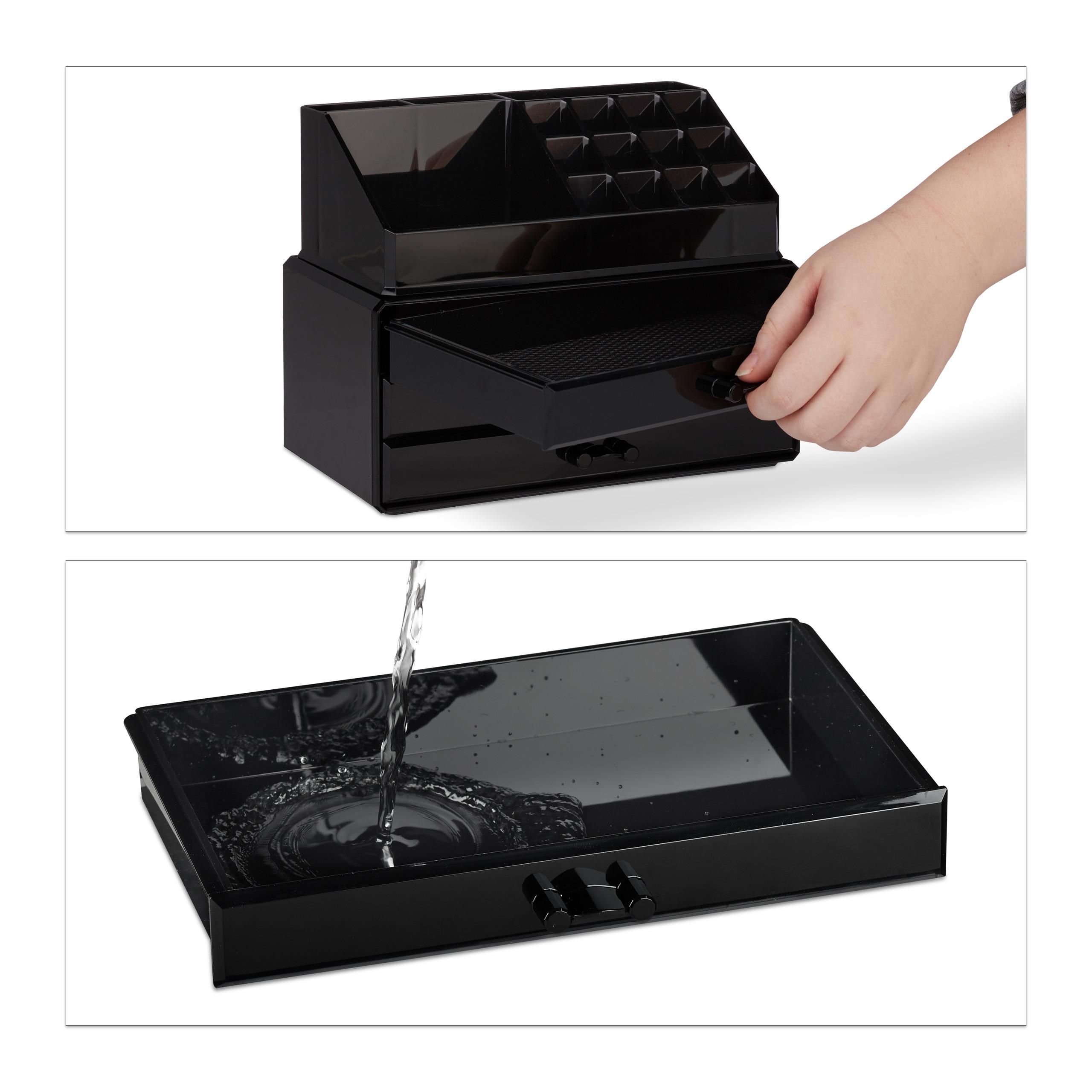 Make-Up-Organizer-klein-Kosmetikbox-stapelbar-Lippenstifthalter-Schmuckkasten miniatura 11
