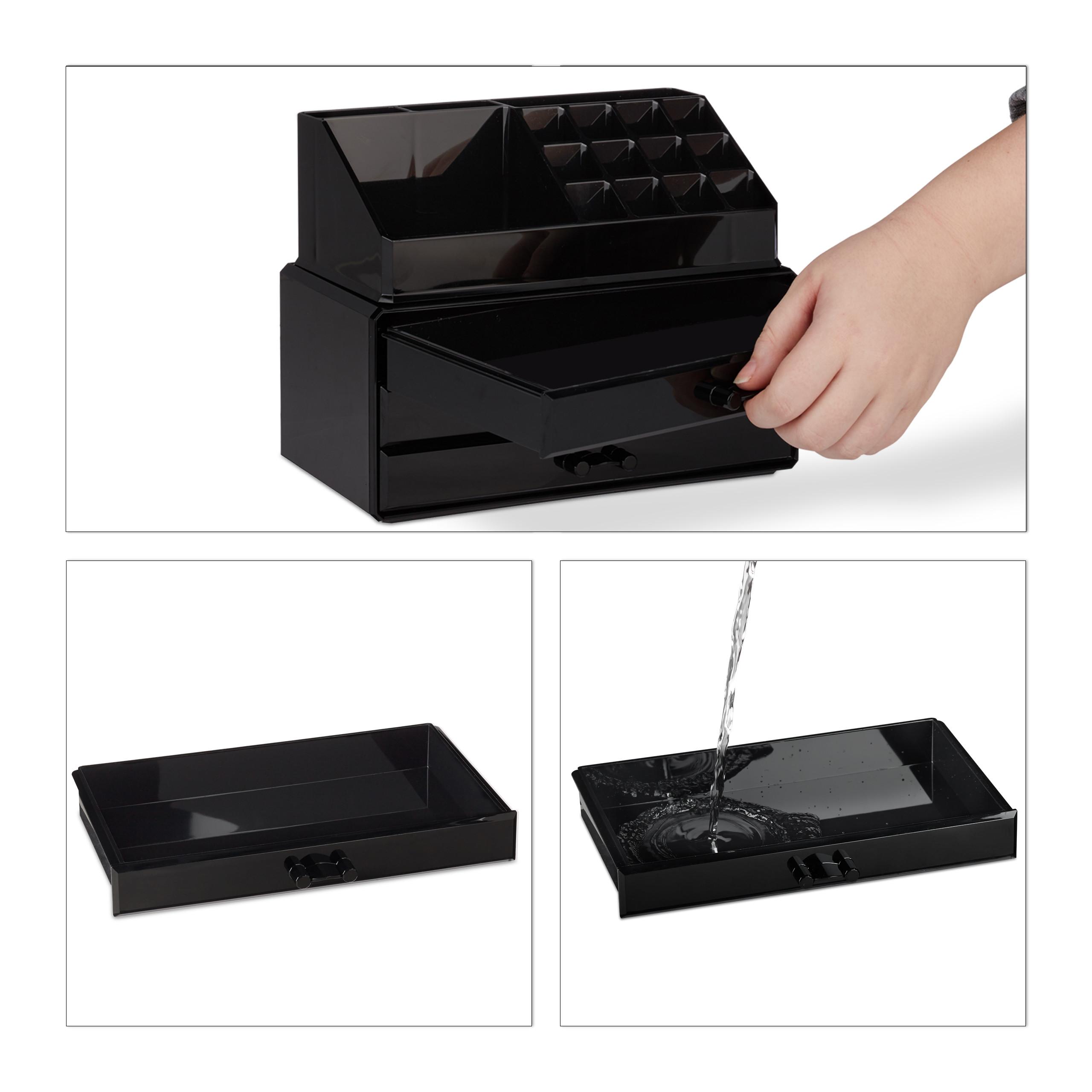 Make-Up-Organizer-klein-Kosmetikbox-stapelbar-Lippenstifthalter-Schmuckkasten miniatura 8