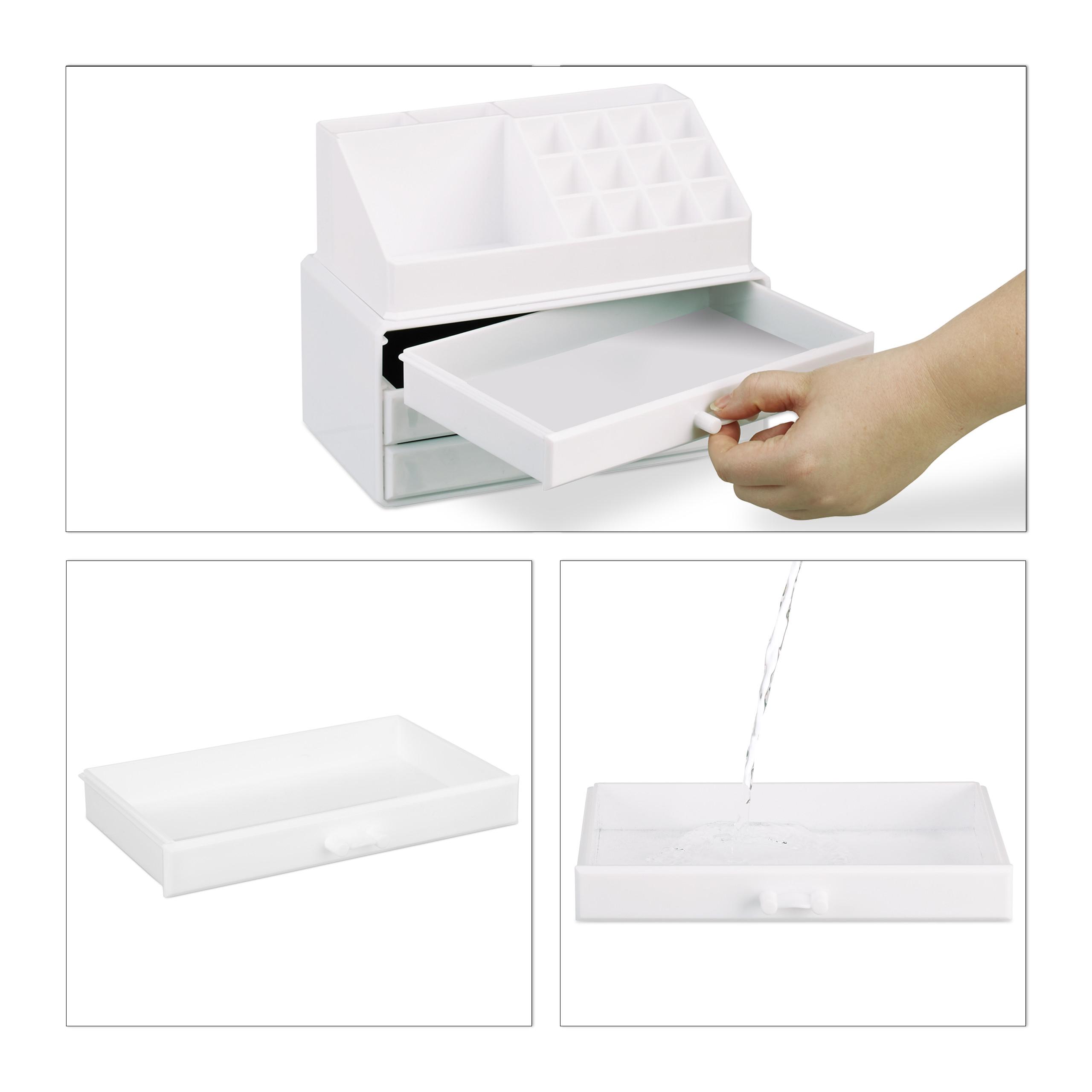Make-Up-Organizer-klein-Kosmetikbox-stapelbar-Lippenstifthalter-Schmuckkasten miniatura 28